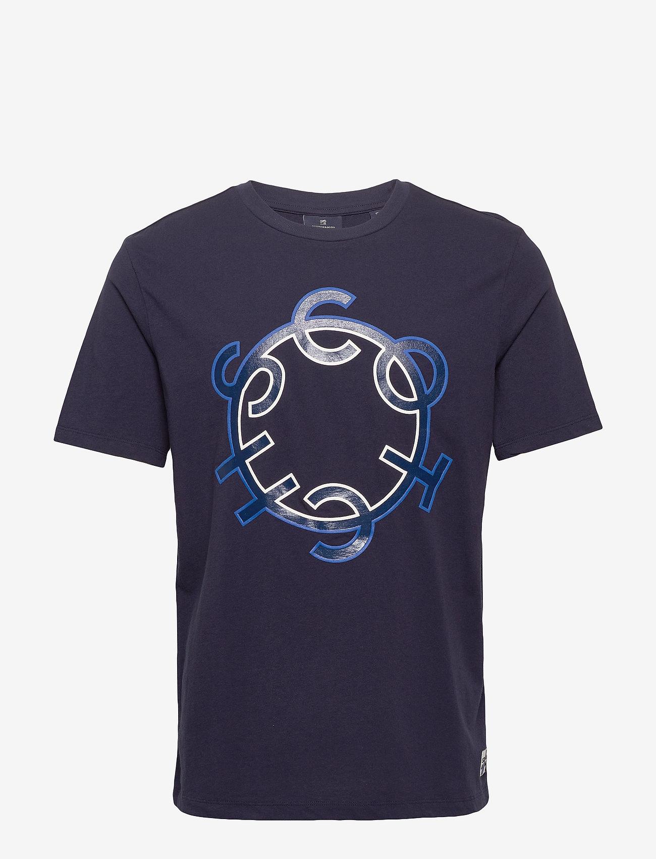 Scotch & Soda - Scotch & Soda crew neck logo tee - short-sleeved t-shirts - night - 0
