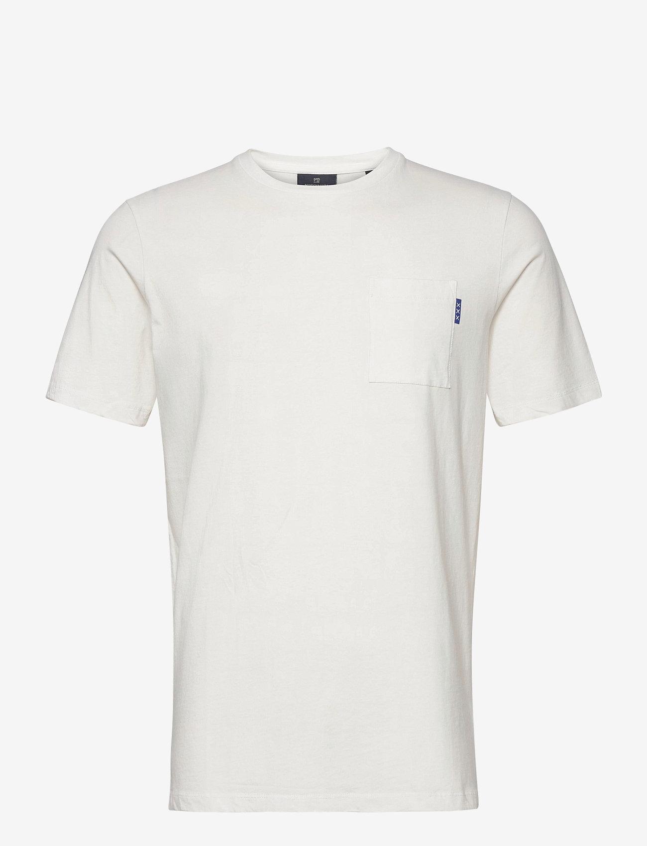 Scotch & Soda - Fabric dyed pocket tee - basic t-shirts - off white - 0