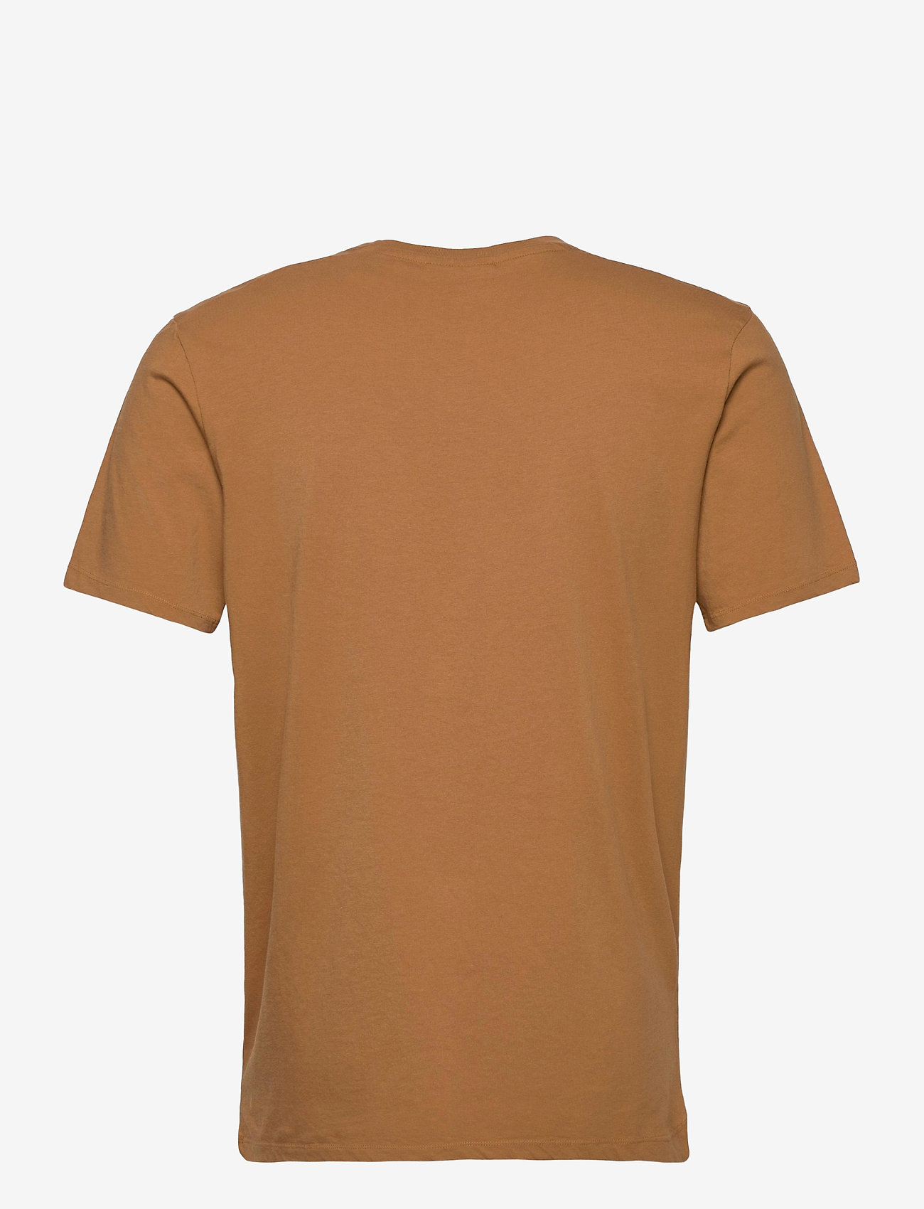 Scotch & Soda - Fabric dyed pocket tee - basic t-shirts - tobacco - 1
