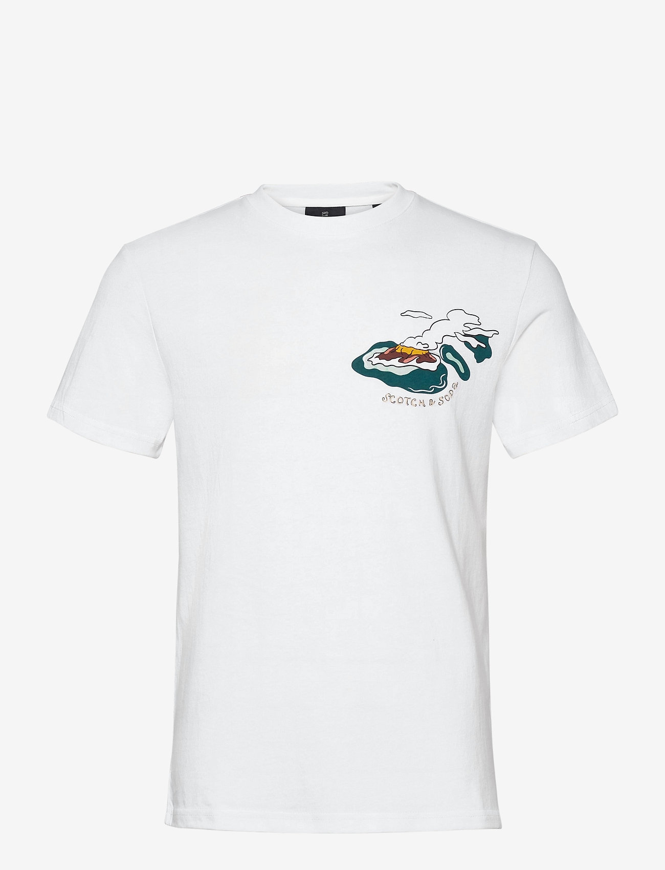 Scotch & Soda - Island souvenir tee - short-sleeved t-shirts - combo a - 0