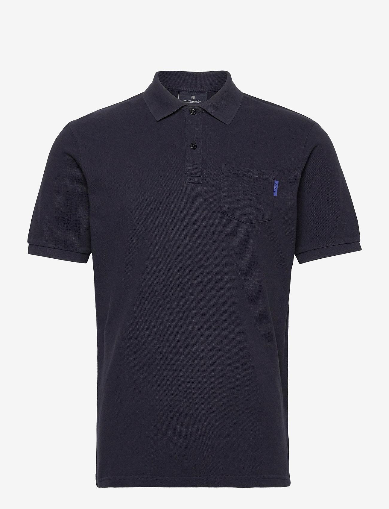 Scotch & Soda - Garment dye polo - short-sleeved polos - night - 0