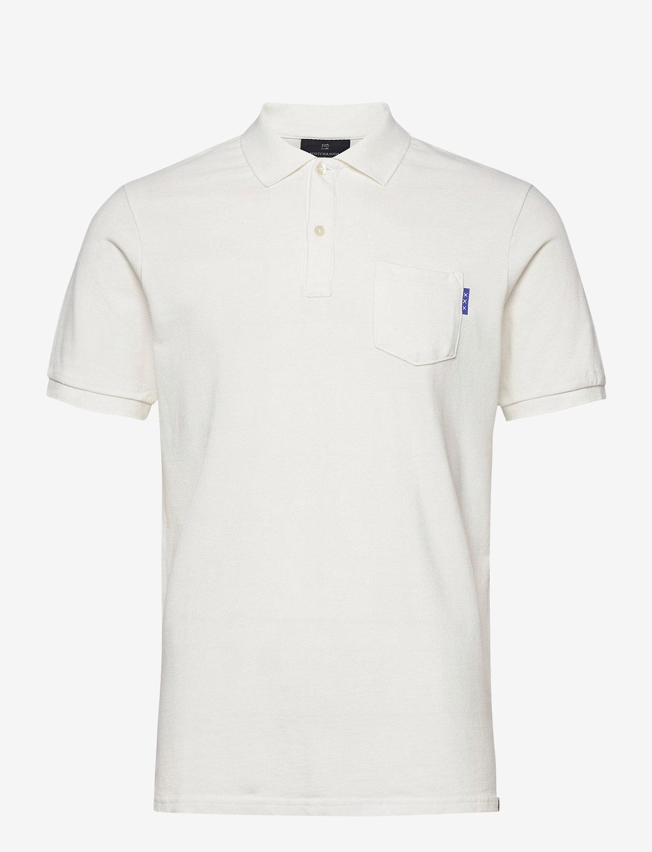 Scotch & Soda - Garment dye polo - short-sleeved polos - off white - 0