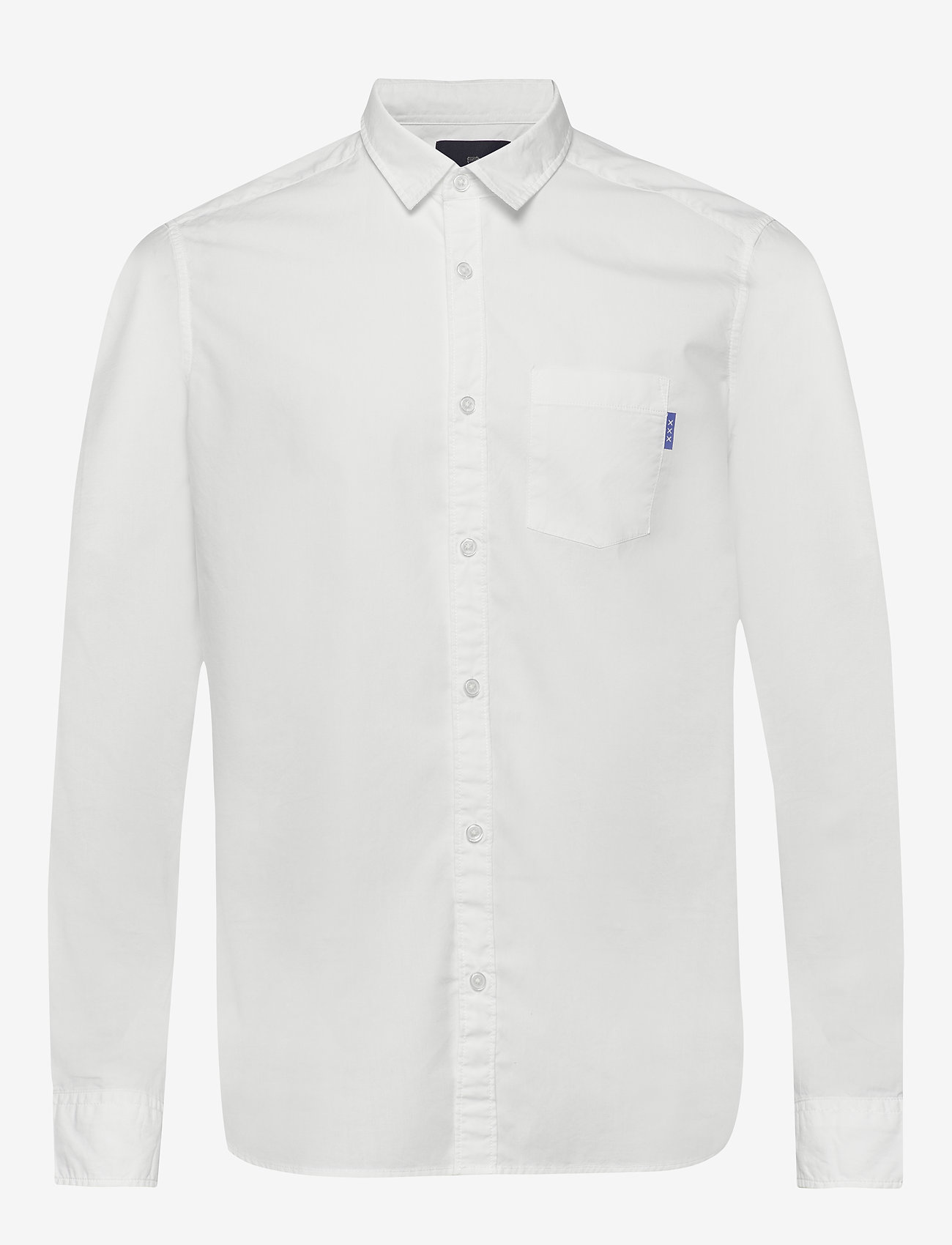 Scotch & Soda - Light weight long sleeve shirt - chemises basiques - off white - 0
