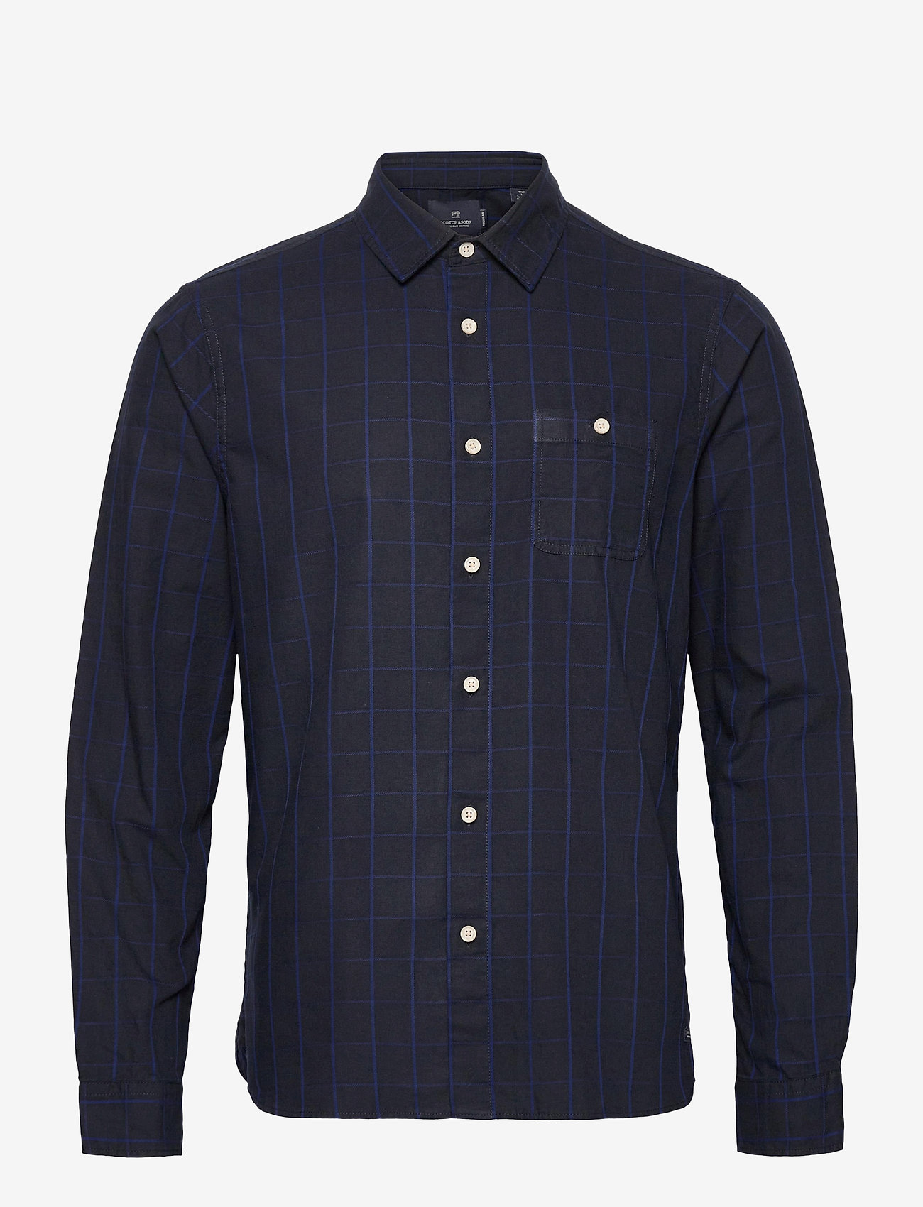 Scotch & Soda - Oxford long sleeve shirt with prints and yarn dyed stripes - checkered shirts - combo b - 0