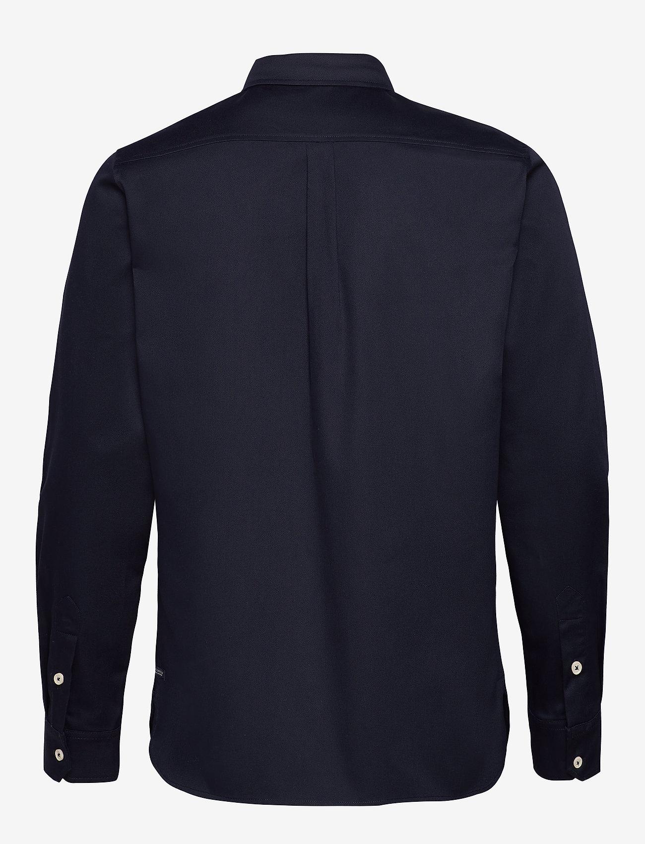 Scotch & Soda - Longsleeve clean utility shirt - basic shirts - night - 1