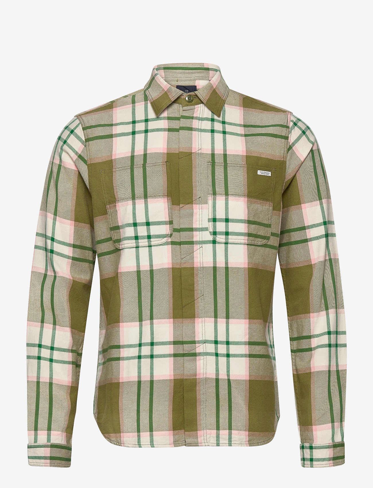 Scotch & Soda - Longsleeve shirt in mid weight flannel - checkered shirts - combo a - 0