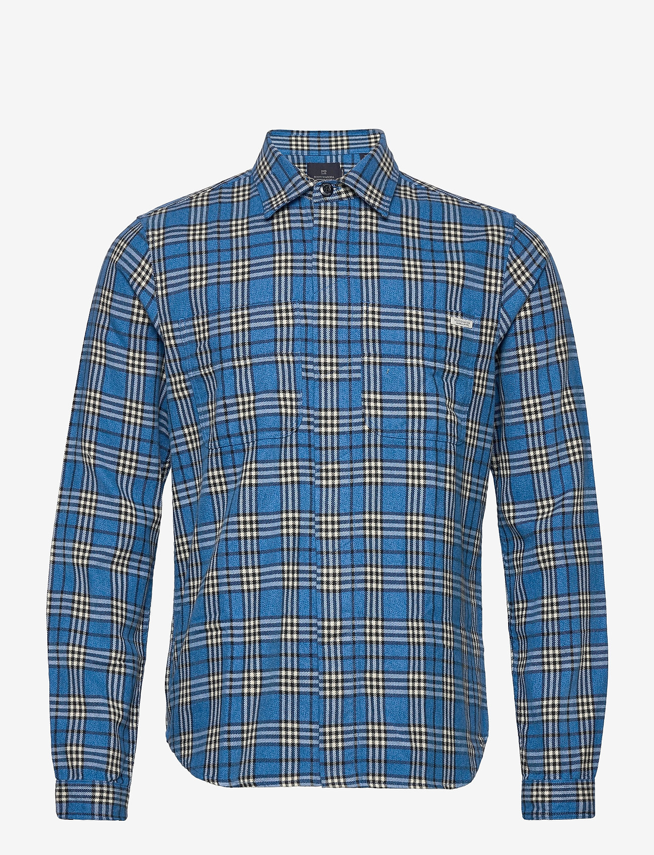 Scotch & Soda - Longsleeve shirt in mid weight flannel - checkered shirts - combo b - 0