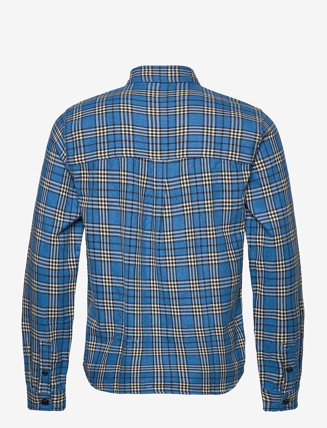 Scotch & Soda - Longsleeve shirt in mid weight flannel - checkered shirts - combo b - 1