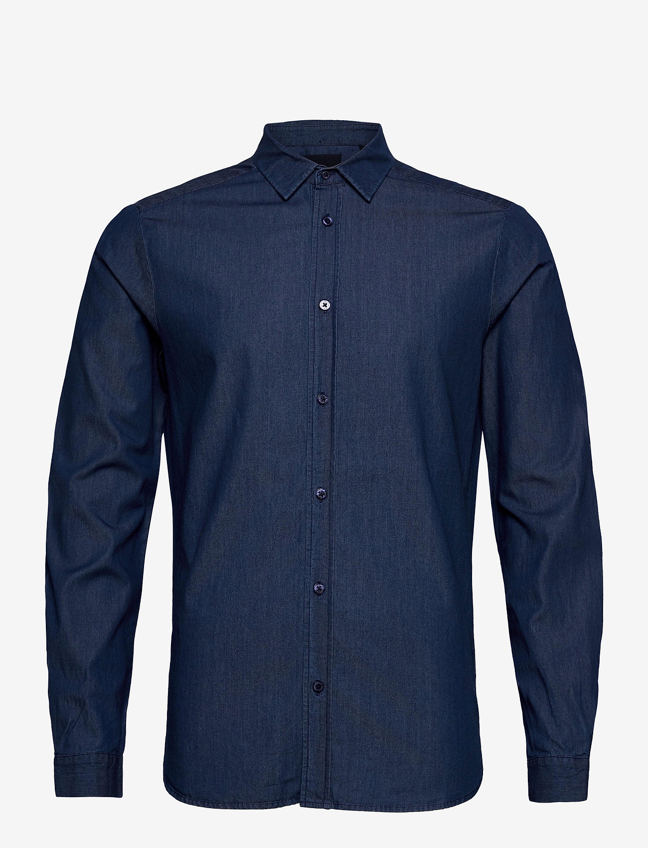 Scotch & Soda - Clean denim tailor shirt - basic shirts - indigo - 0