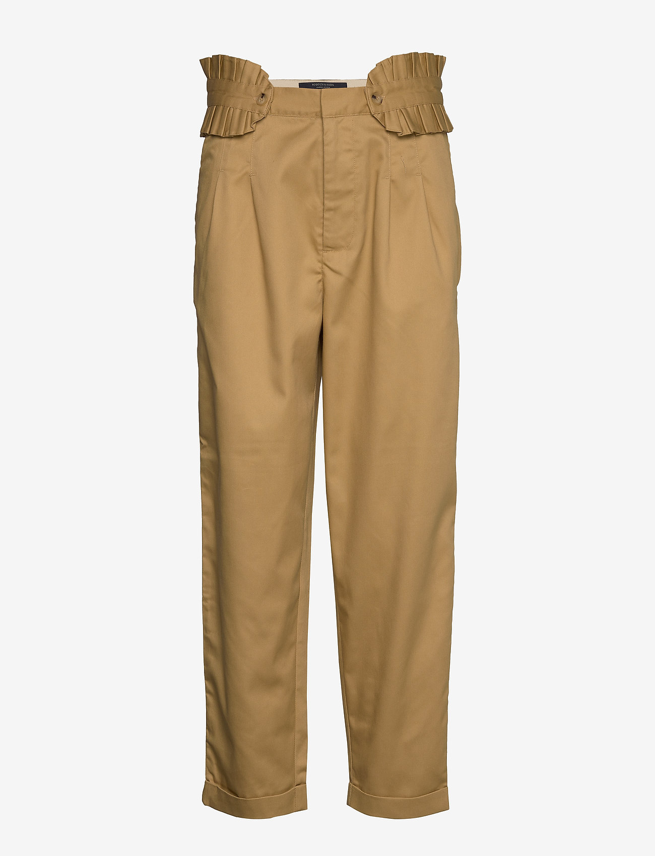 Scotch & Soda - Clean twill chino with detachable pleated belt - chinos - sand - 1