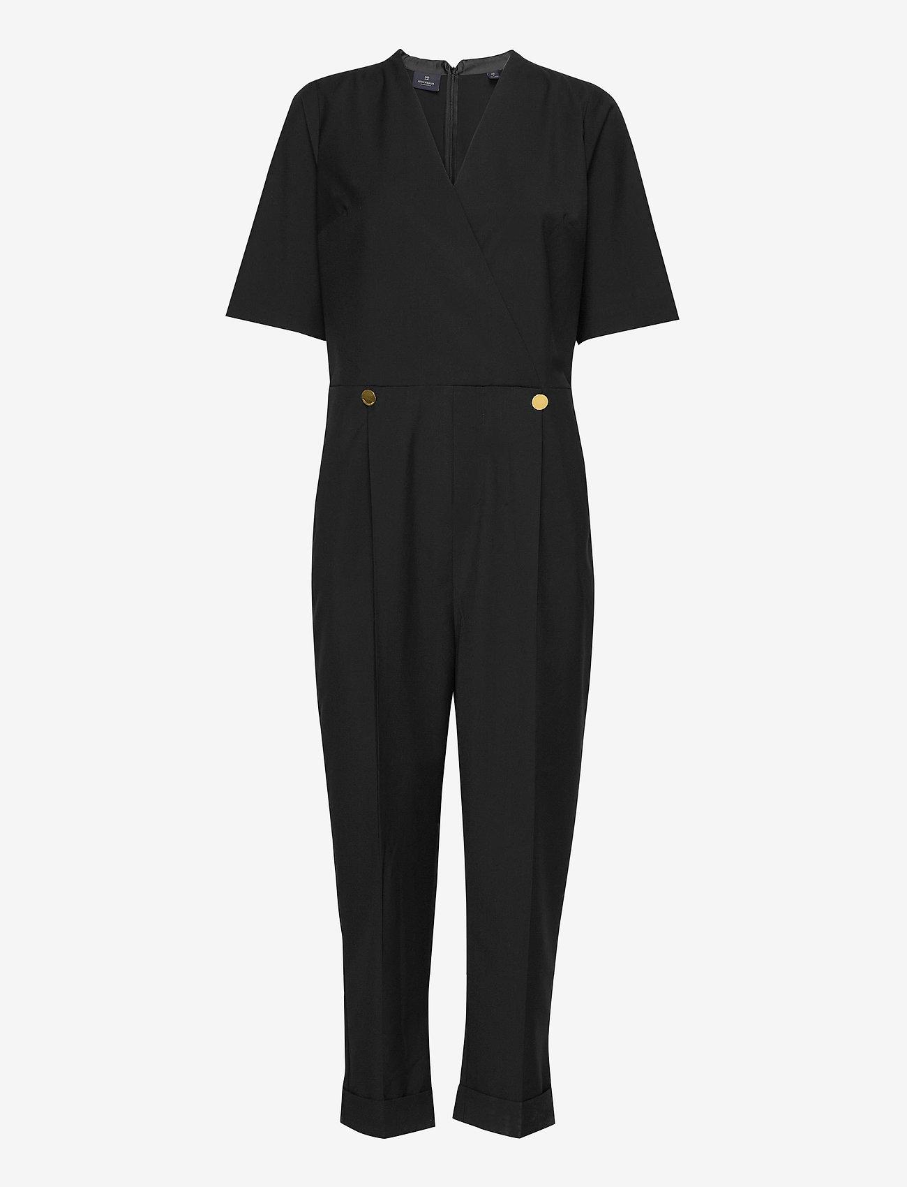 Scotch & Soda - Clean tailored all in one - jumpsuits - black - 1