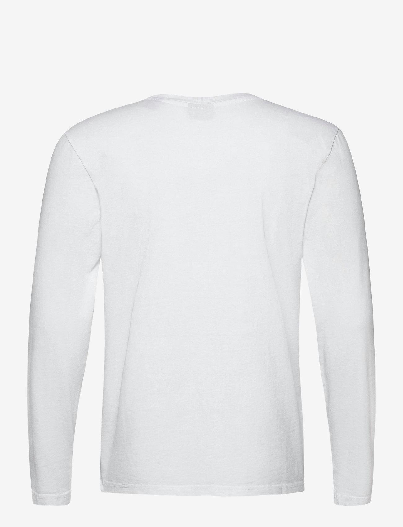 Scotch & Soda - Longsleeve tee in heavy organic cotton - basic t-shirts - denim white - 1