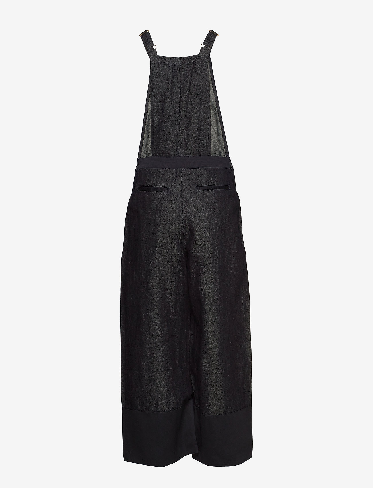 Scotch & Soda - Ams Blauw Indigo dungaree in cotton linen fabric - combinaisons - back in nimes - 1