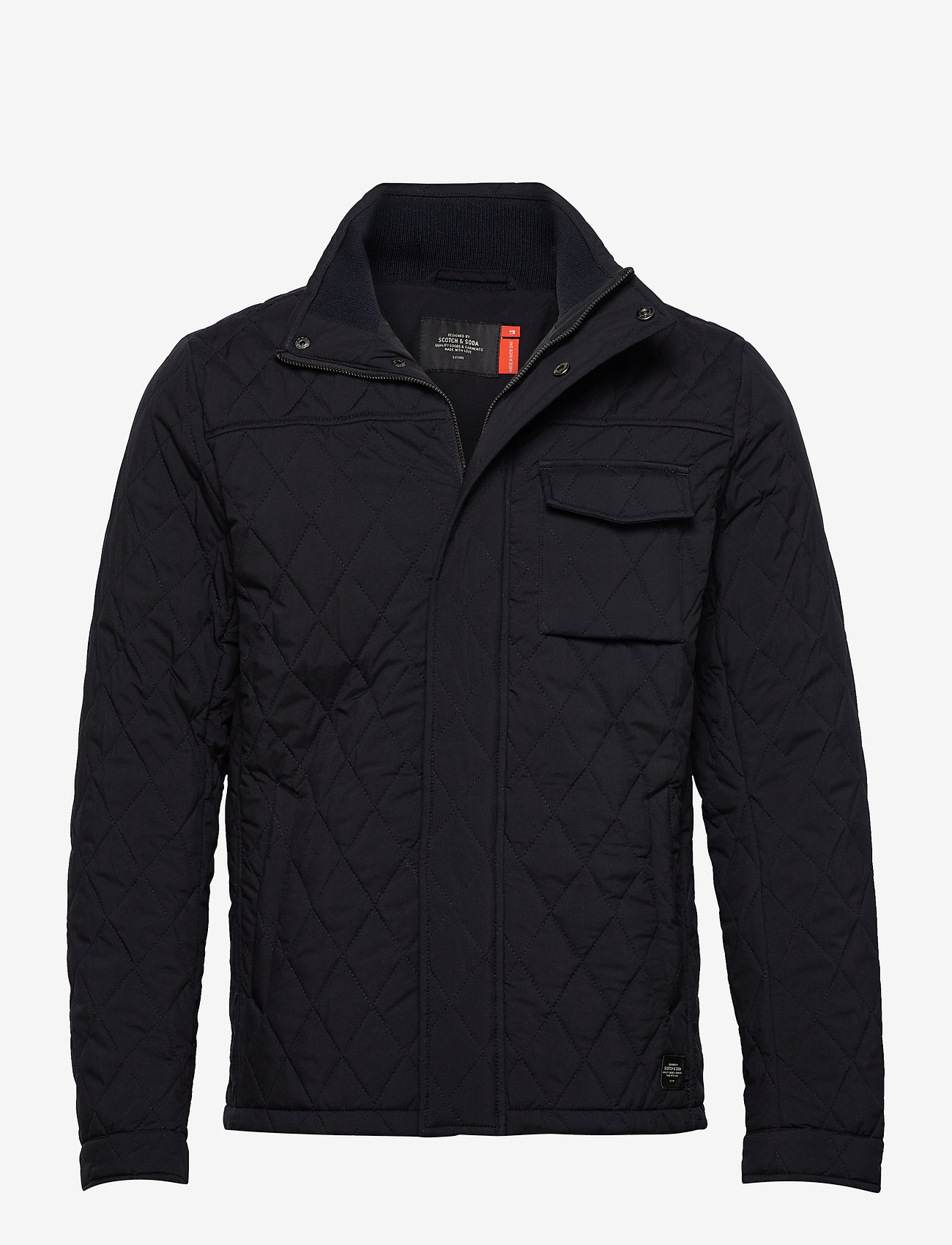 Scotch & Soda - Classic short quilted jacket - quilted jackets - night - 0