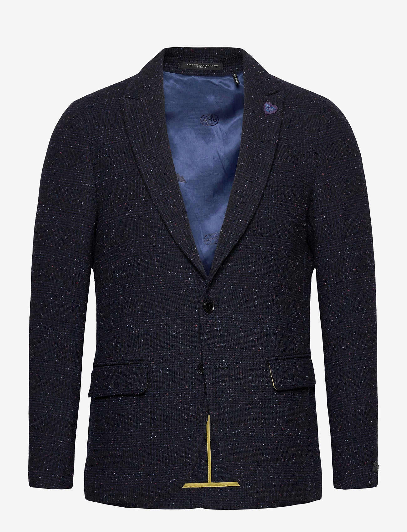 Scotch & Soda - Classic single-breasted neps wool-blend blazer - single breasted blazers - combo a - 0