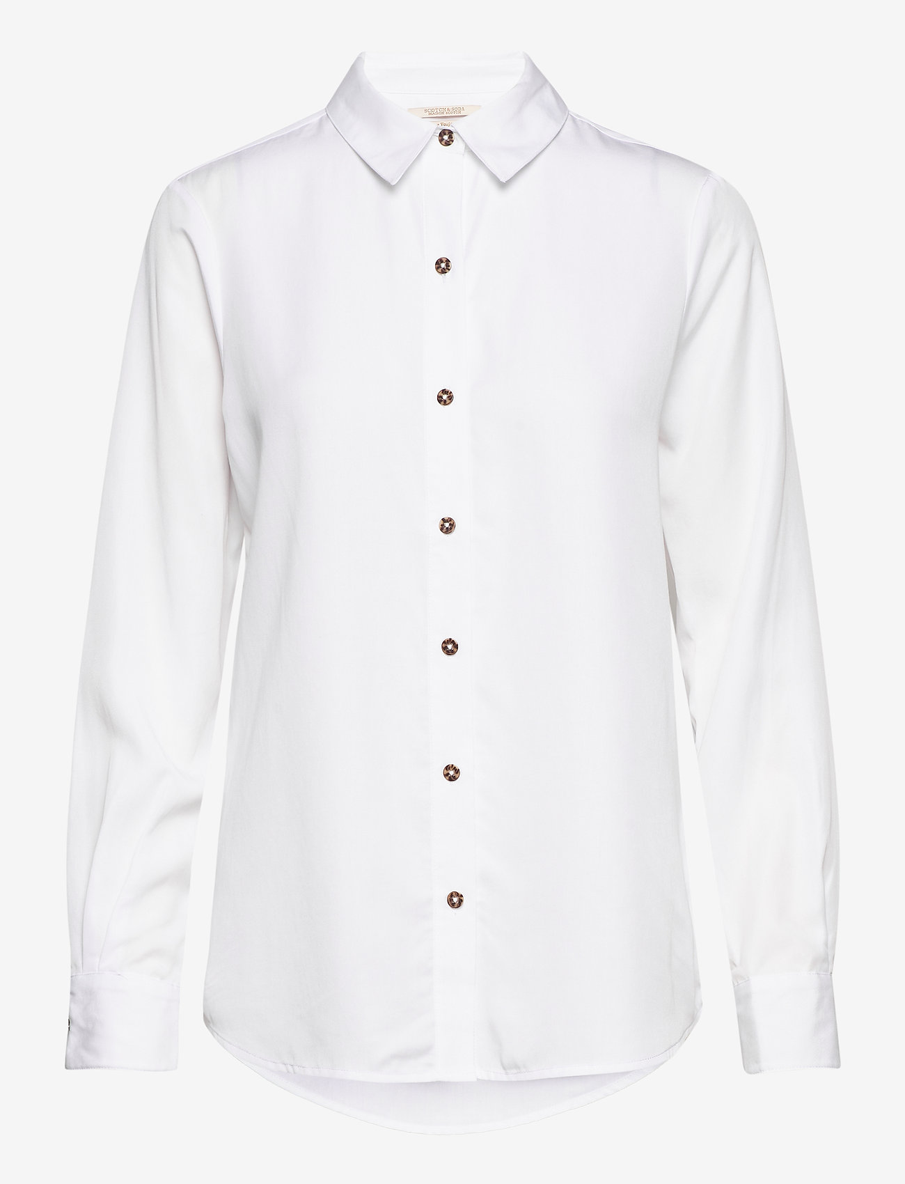 Scotch & Soda - Classic shirt in lyocell quality - chemises à manches longues - white - 0