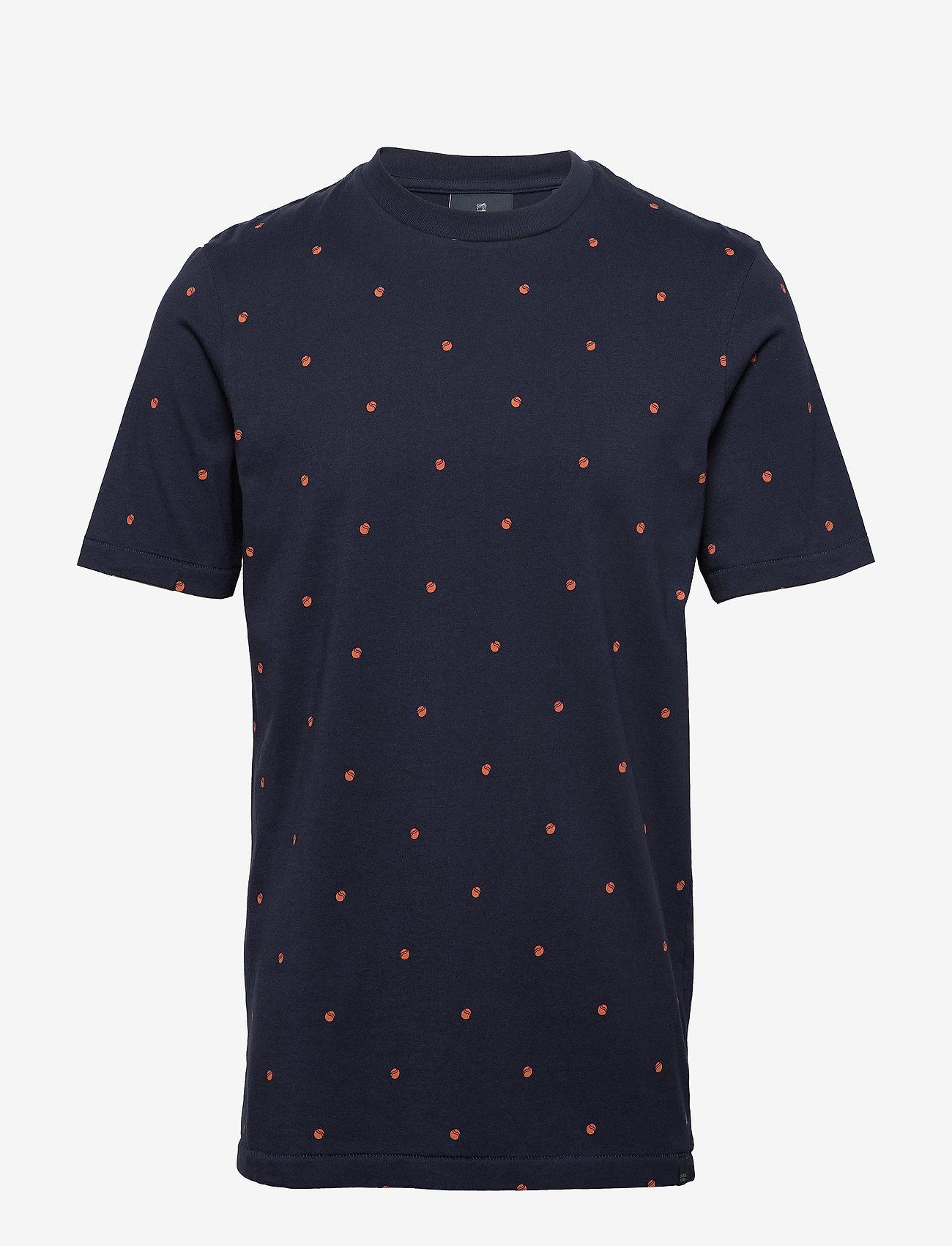 Scotch & Soda - Short sleeve tee with allover print - short-sleeved t-shirts - combo e - 0