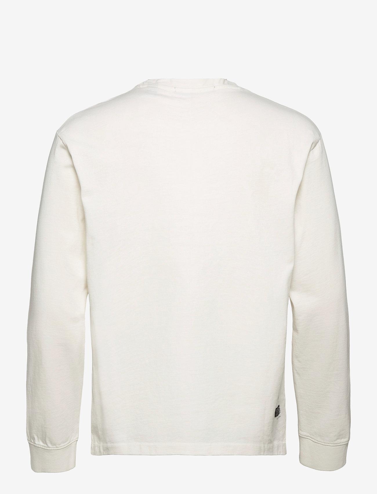 Scotch & Soda - Organic cotton-jersey longsleeve artwork tee - podstawowe koszulki - denim white - 1