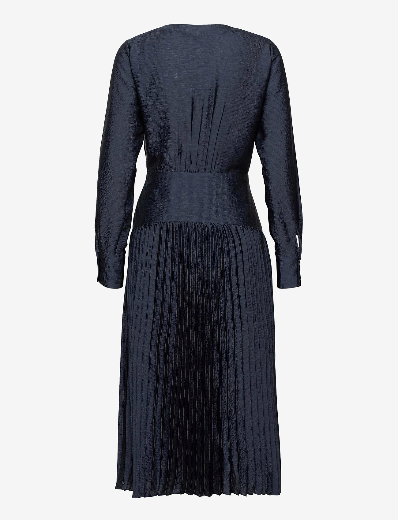 Scotch & Soda - Feminine dress with pleated skirt in structured quality - kveldskjoler - night - 1