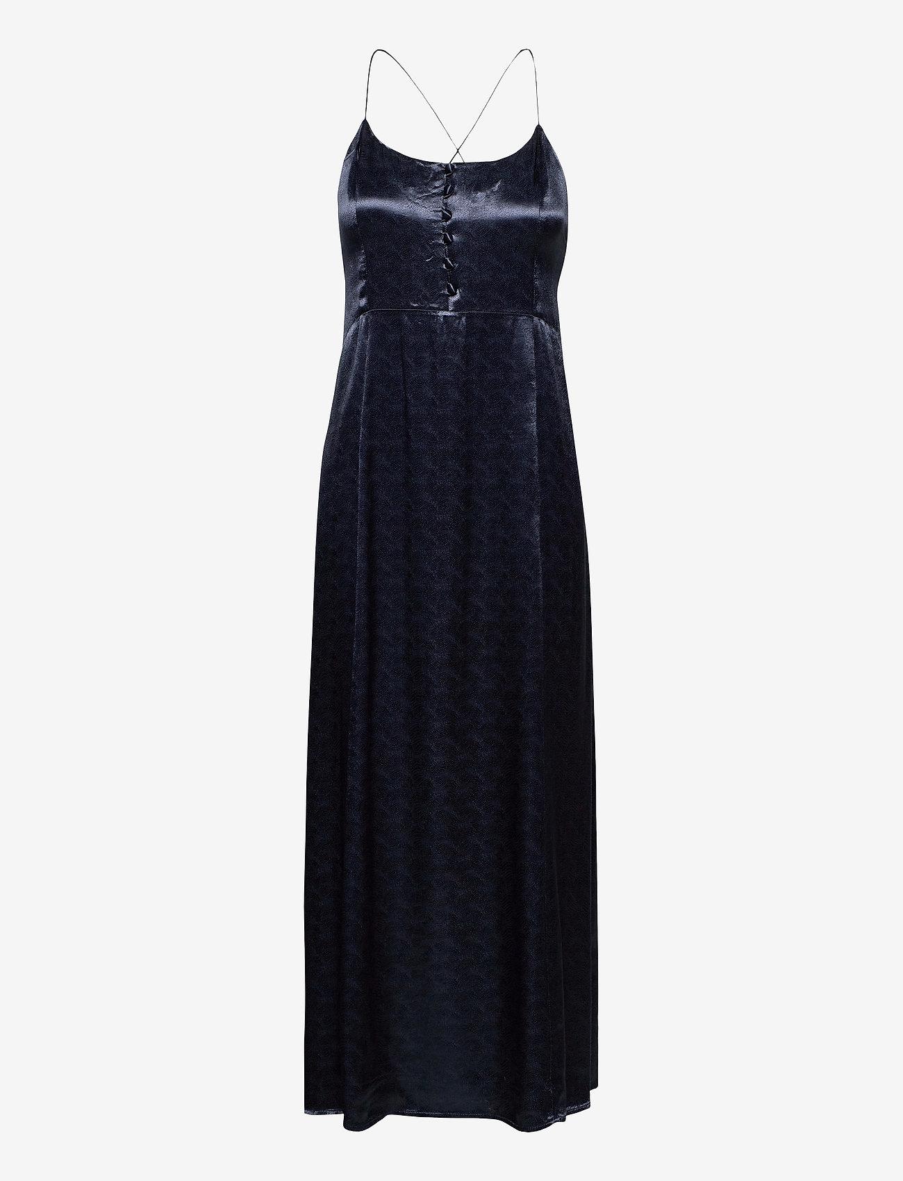 Scotch & Soda - Summer slip dress in wave jacquard quality - kveldskjoler - night - 0