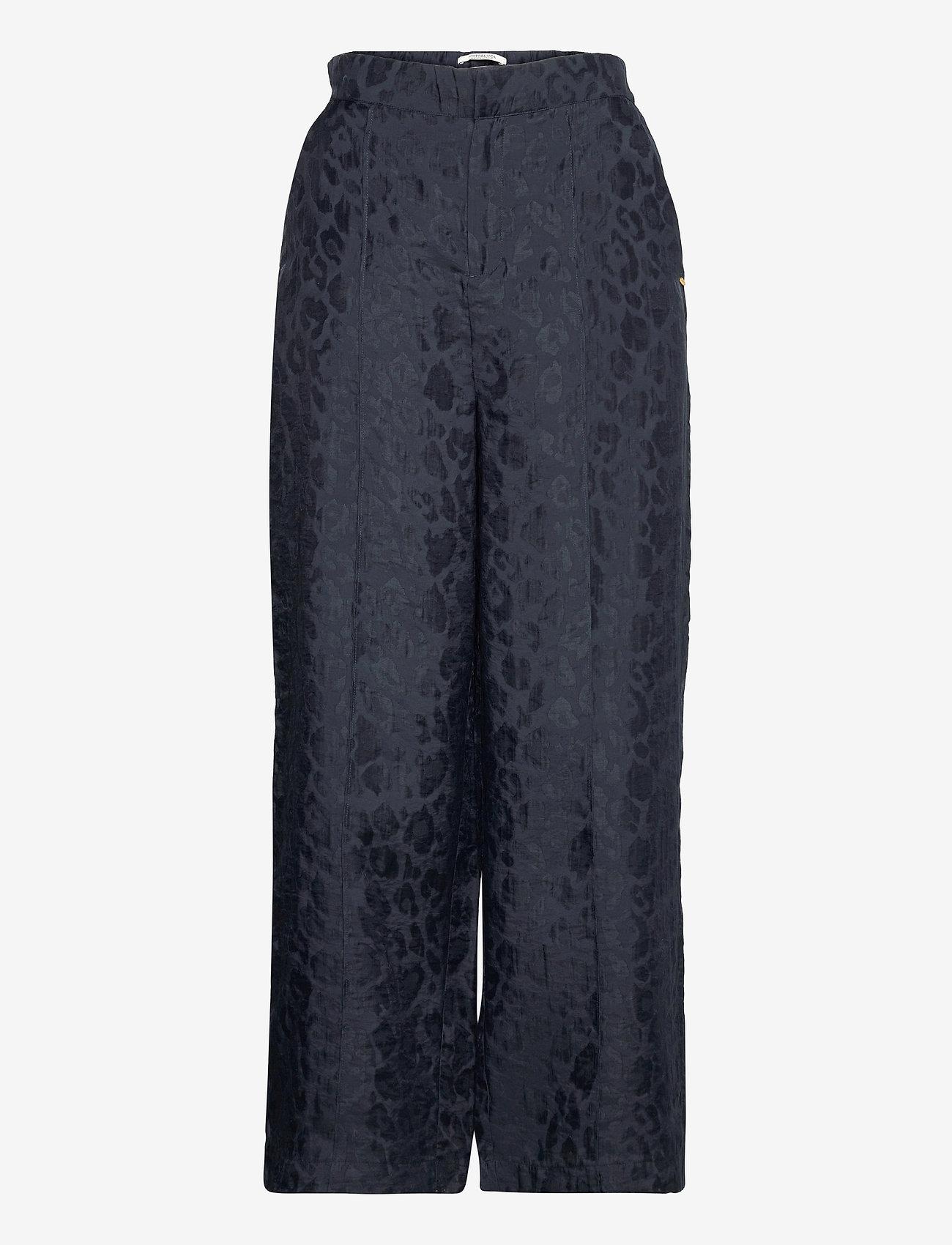 Scotch & Soda - Jogger pants in animal jacquard quality - bukser med brede ben - night - 0