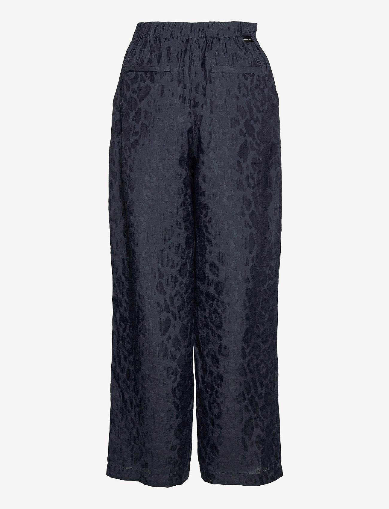 Scotch & Soda - Jogger pants in animal jacquard quality - bukser med brede ben - night - 1