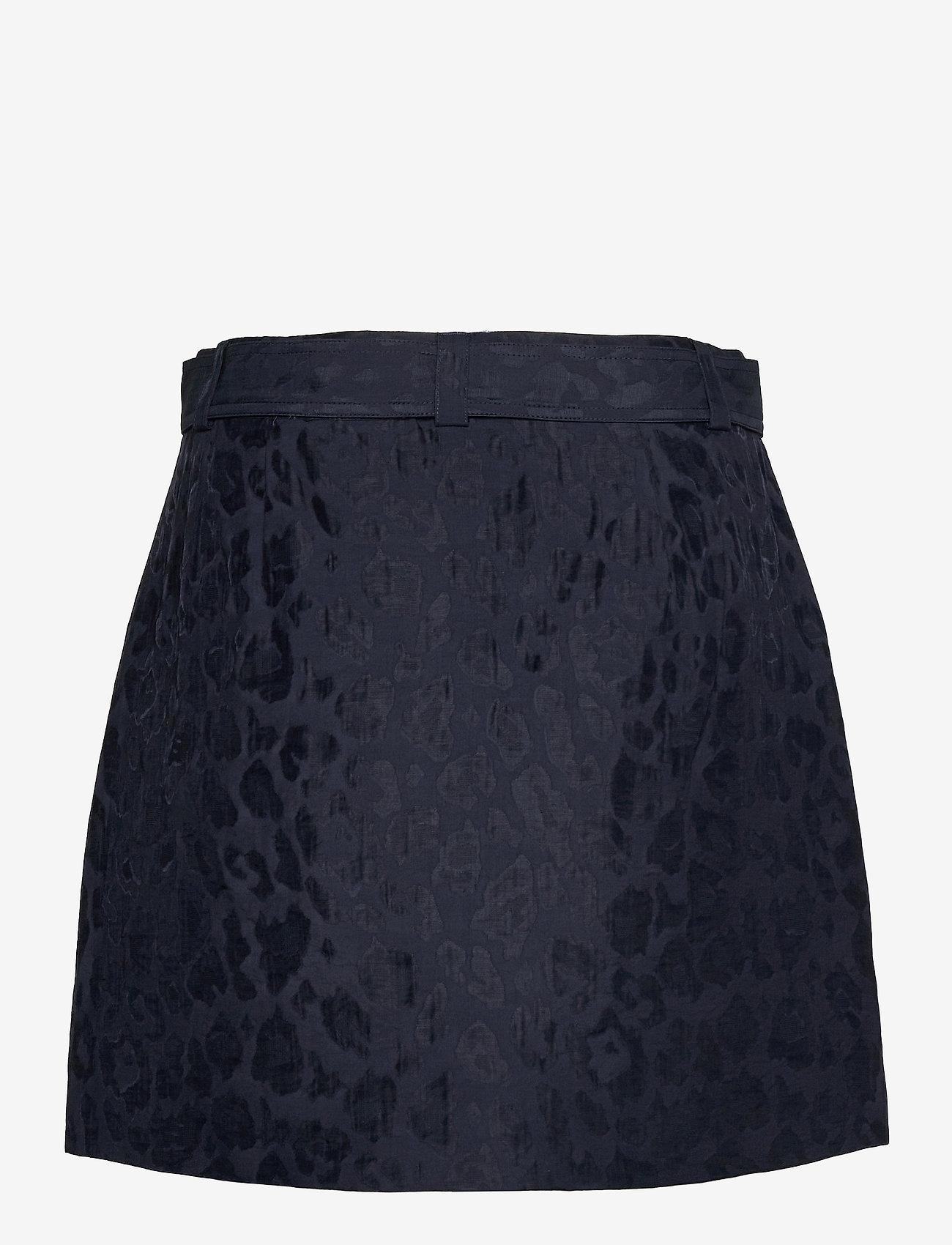 Scotch & Soda - Wrap-over skirt in animal jacquard Tencel™ quality - omlottkjolar - night - 1