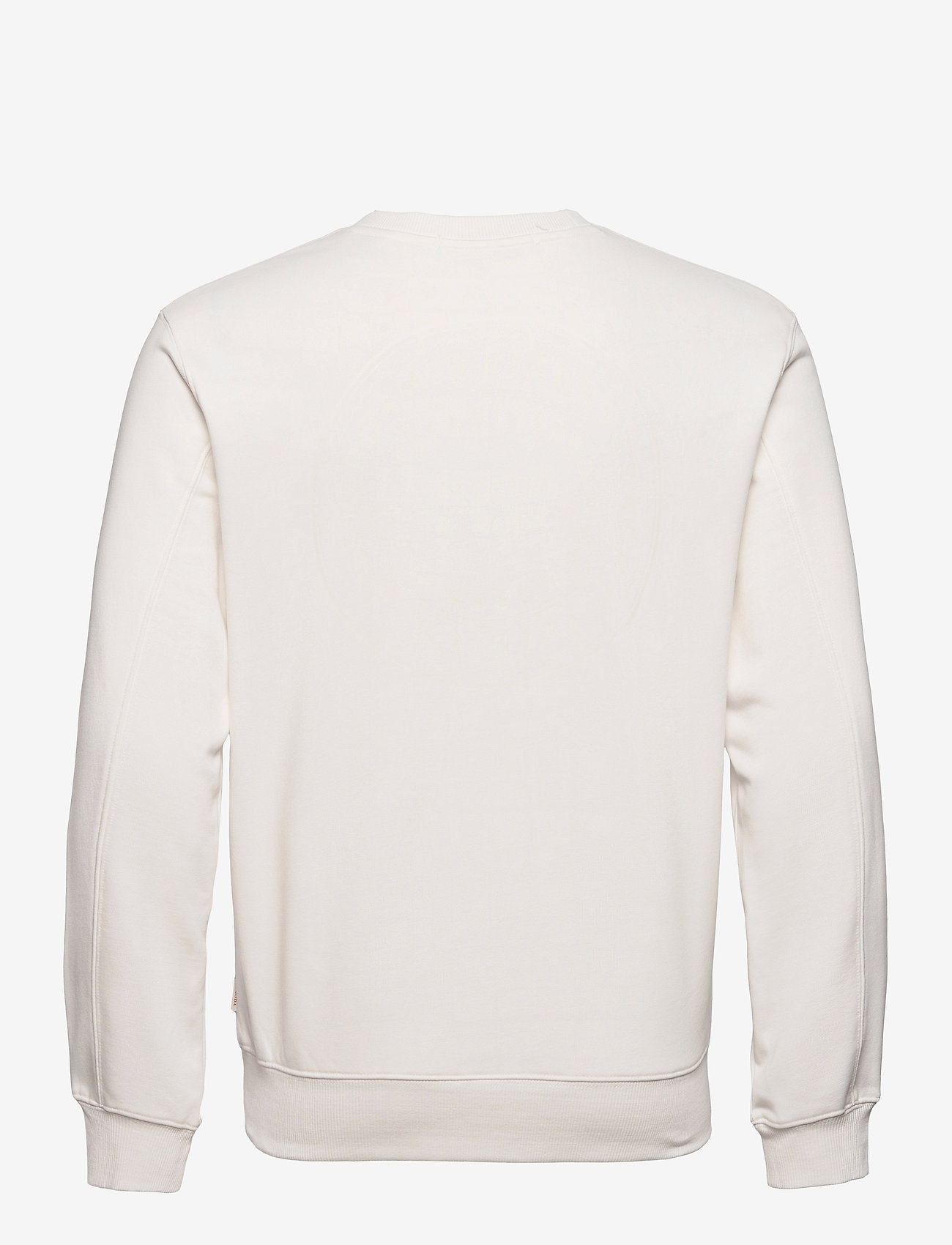 Scotch & Soda - Organic cotton blend felpa crewneck sweat with logo print - podstawowe bluzy - denim white - 1