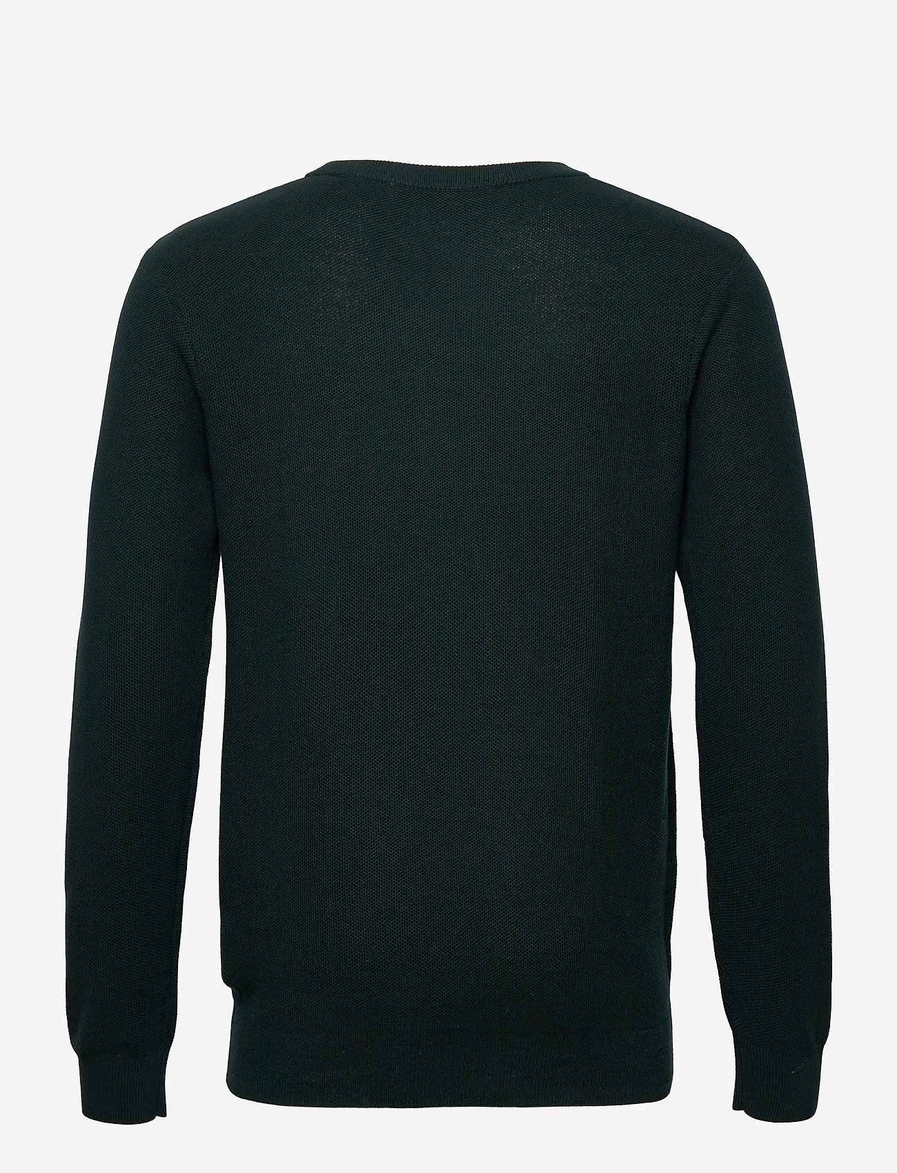 Scotch & Soda - Organic cotton crewneck pull in structured knit - basic gebreide truien - sea green - 1