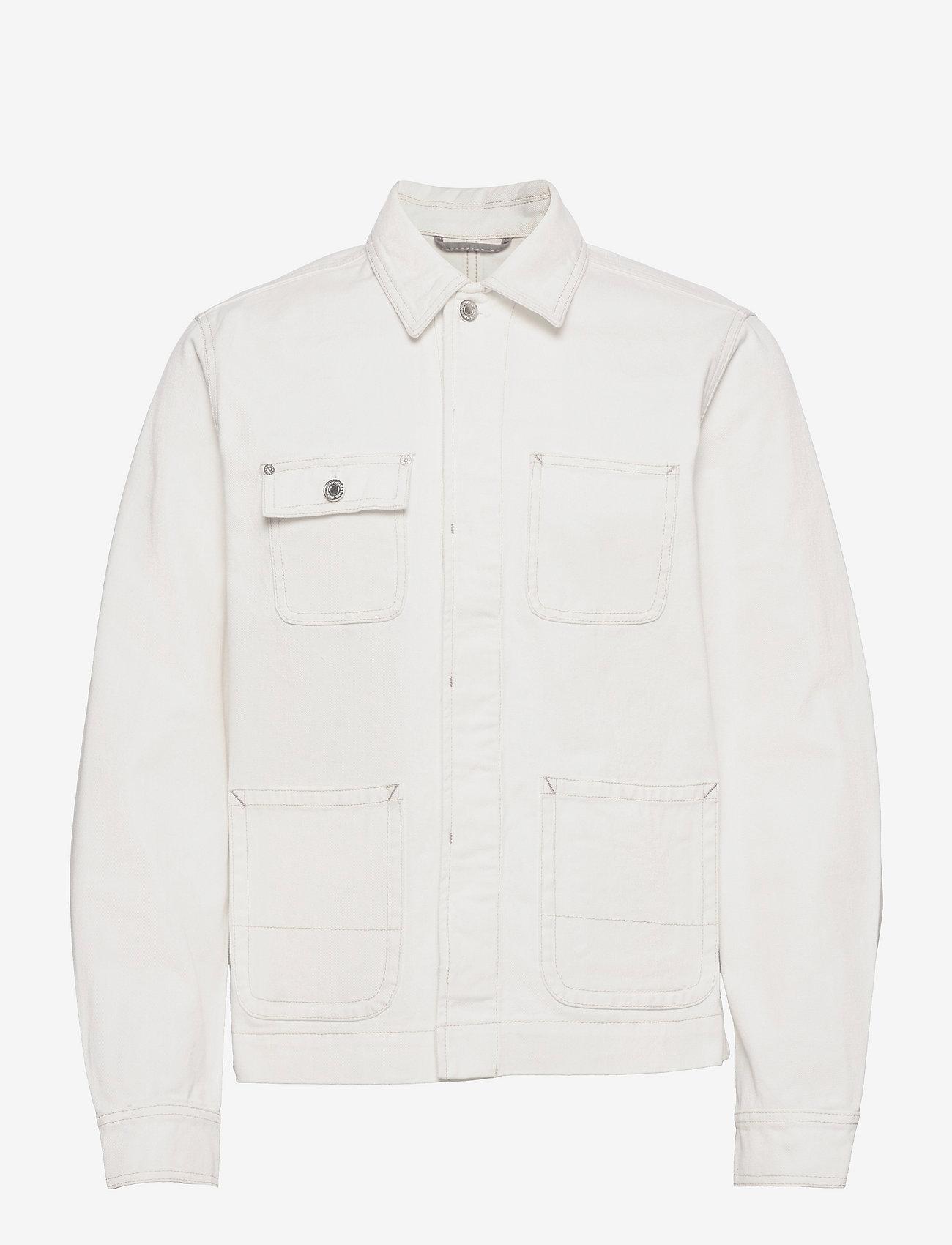 Scotch & Soda - Ams Blauw workwear shirt jacket - spijkerjassen - workwear white - 0