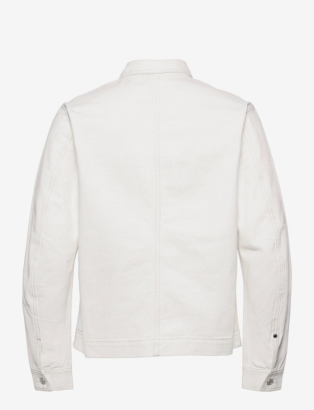 Scotch & Soda - Ams Blauw workwear shirt jacket - spijkerjassen - workwear white - 1
