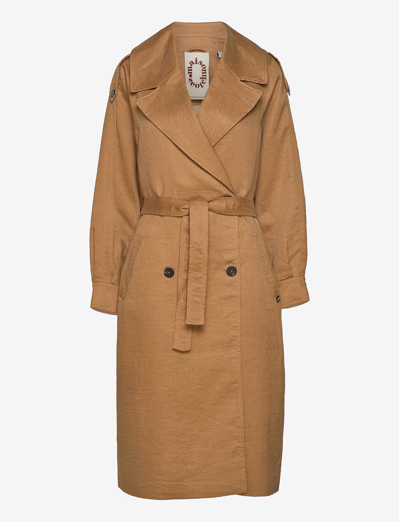 Scotch & Soda - Longer length trench coat - trenchcoats - sand - 0