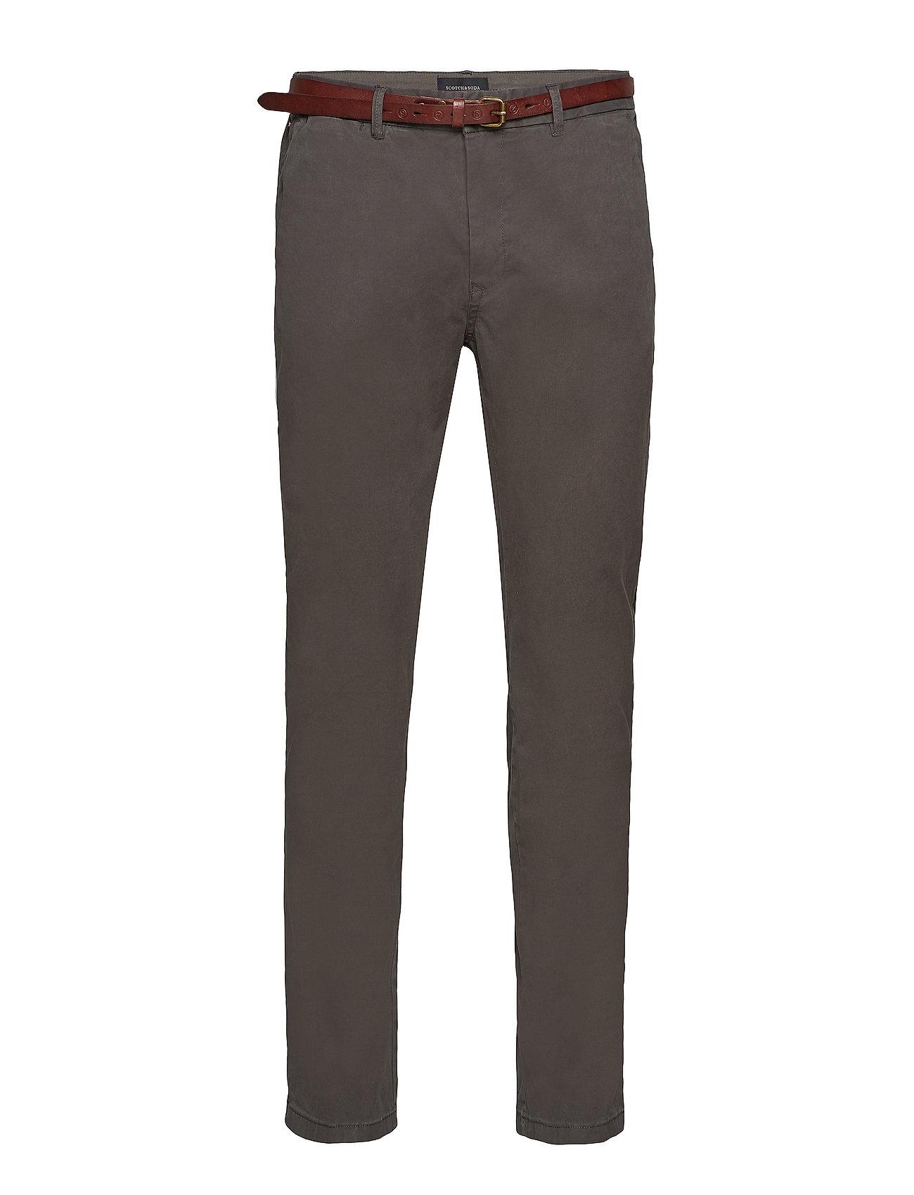 Scotch & Soda Slim fit cotton/elastan garment dyed chino pant - CHARCOAL