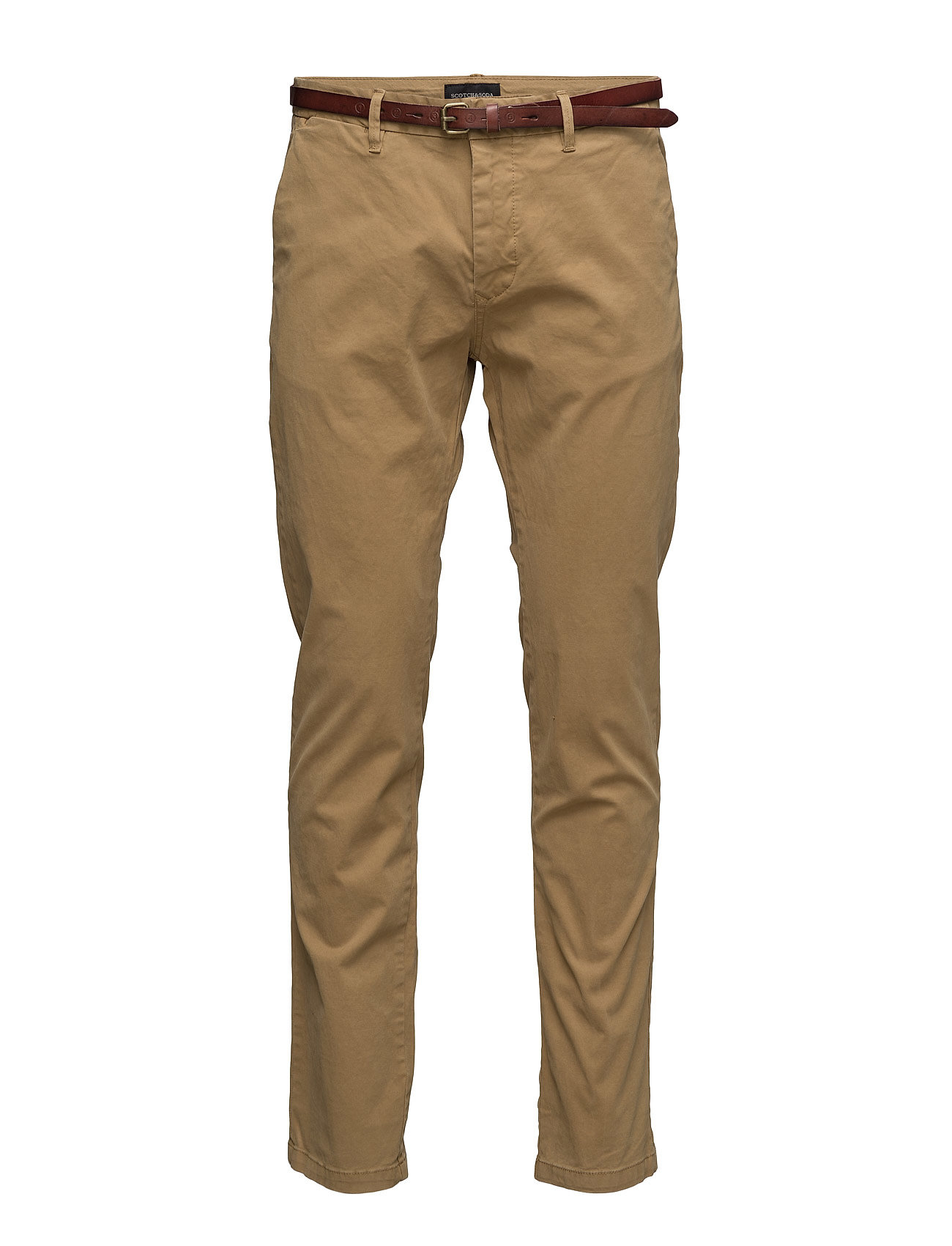 SCOTCH & SODA Slim Fit Cotton/Elastan Garment Dyed Chino Pant Chinos Hosen Braun SCOTCH & SODA