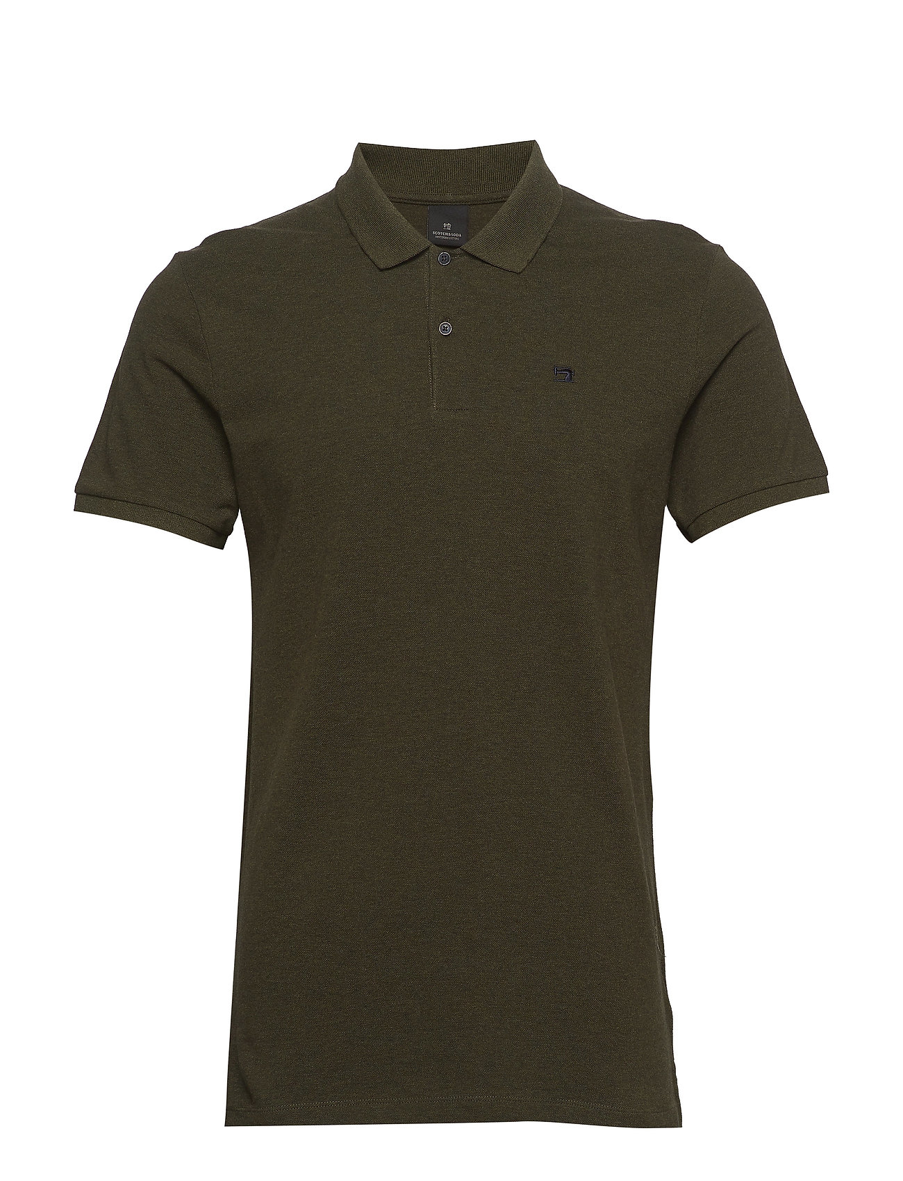 - Classic Polo In Pique Quality With Clean Outlook Polos Short-sleeved Vihreä Scotch & Soda