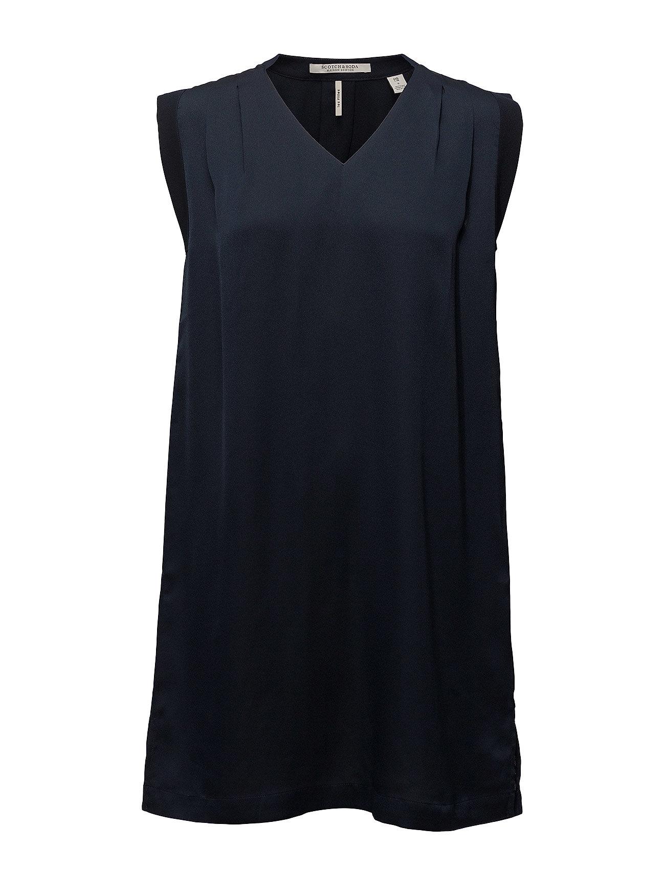Scotch & Soda Sleeveless silky dress - NAVY