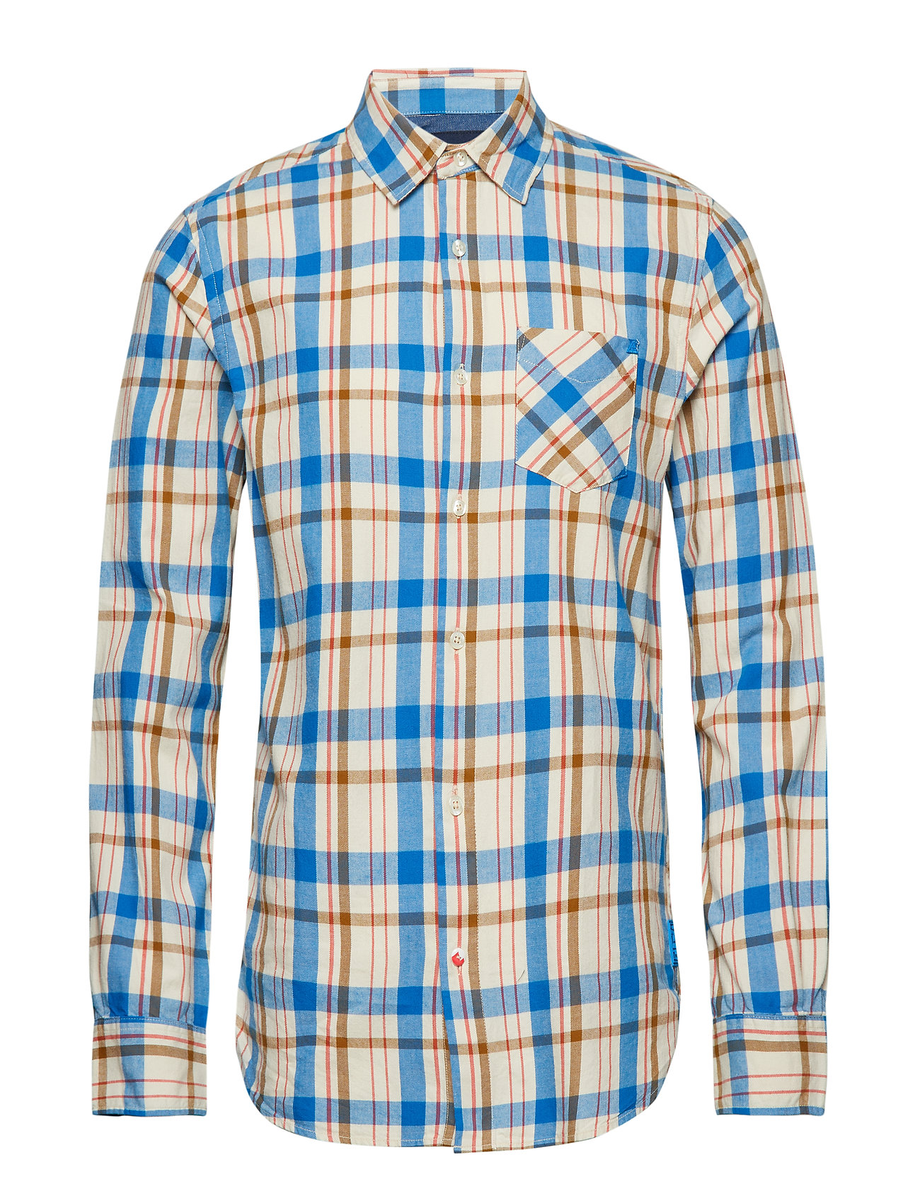 Scotch & Soda Ams Blauw shirt - COMBO B