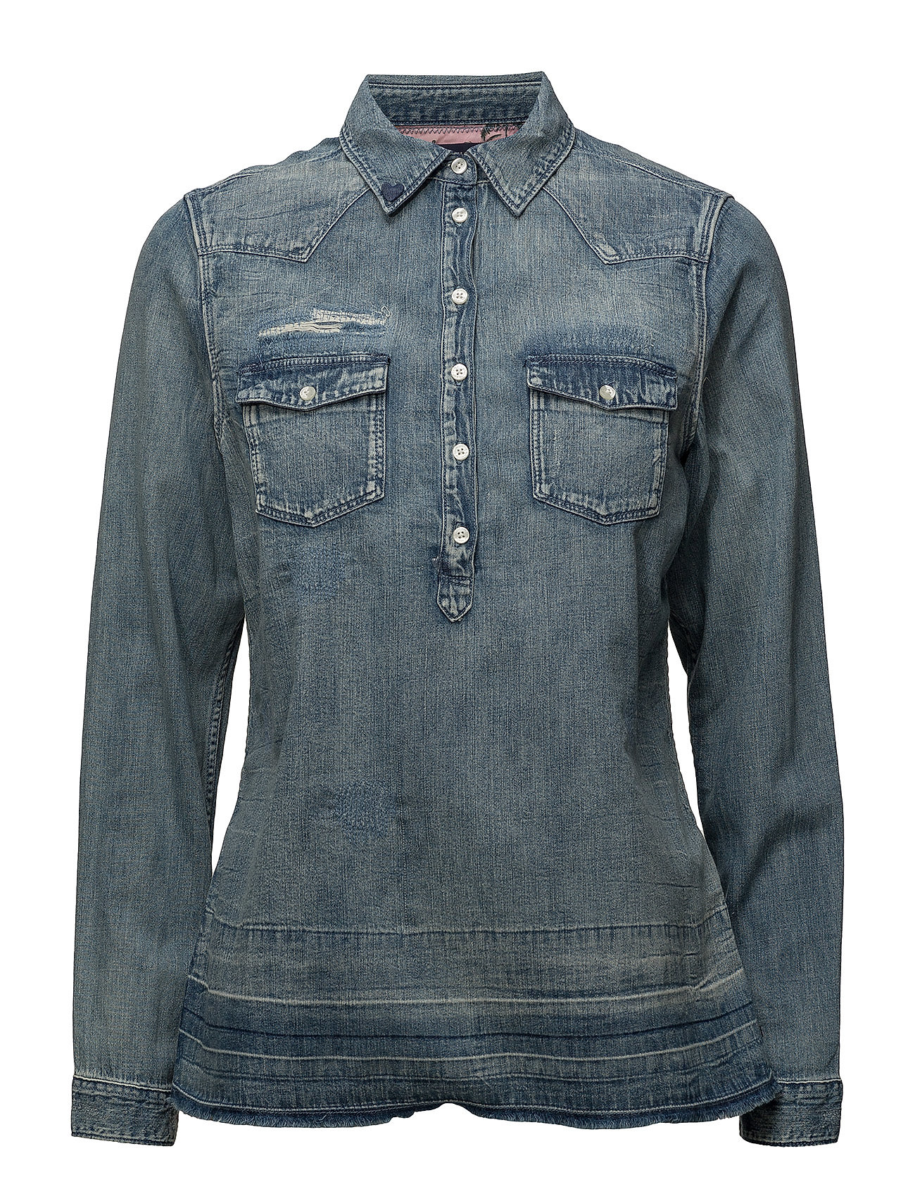 Scotch & Soda Denim blouse with over-dye - 51 INDIGO