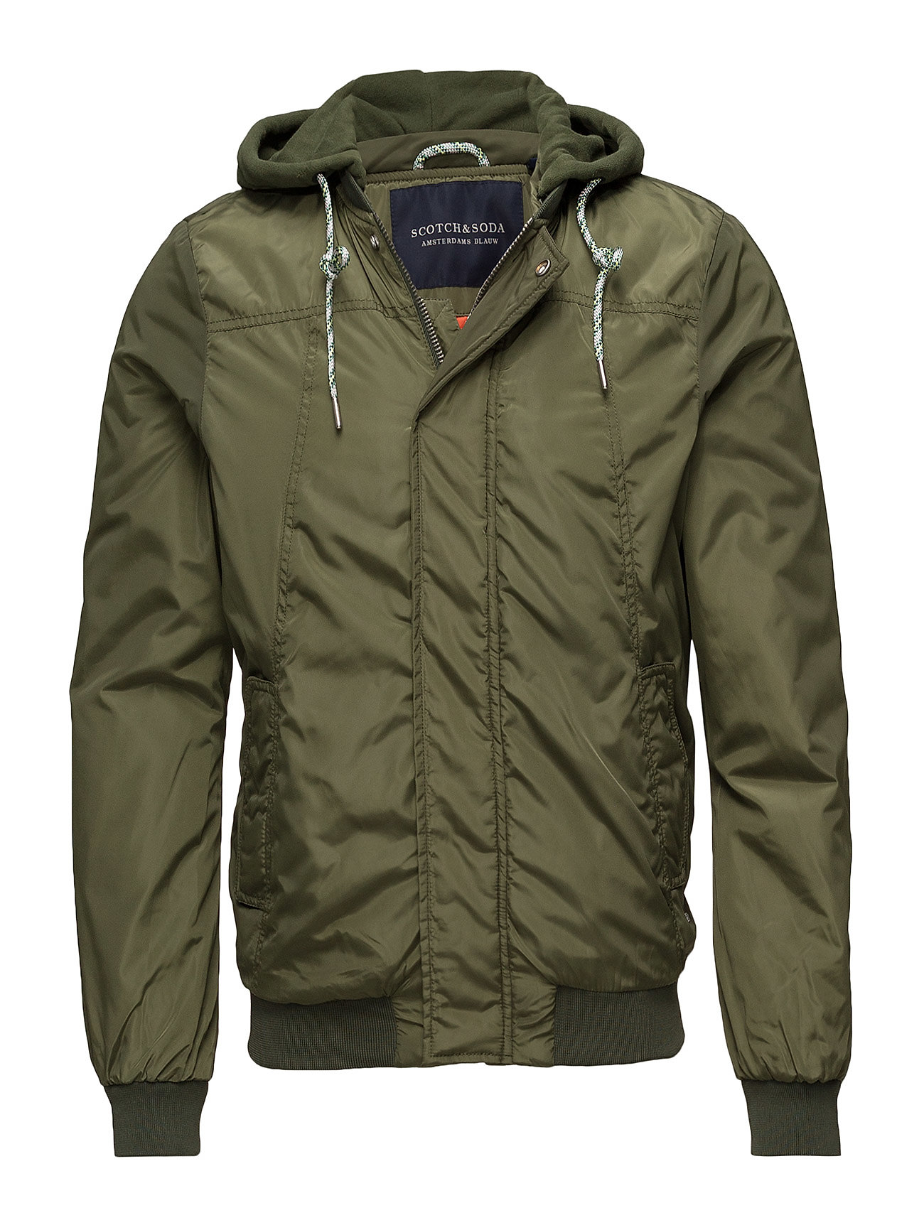 Scotch & Soda Ams Blauw worked out bomber jacket