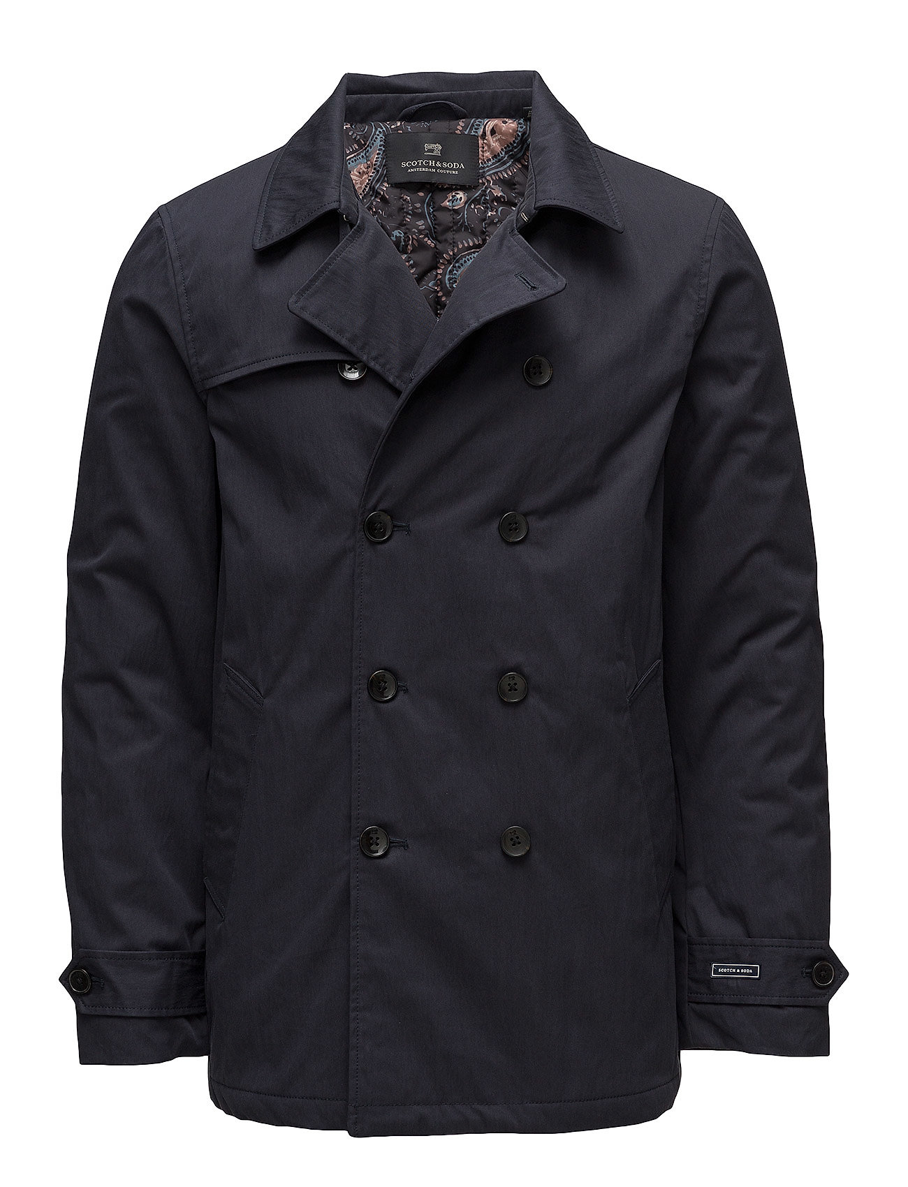 Classic Double Breasted Trench Coat Trenchcoat Mantel Schwarz SCOTCH & SODA