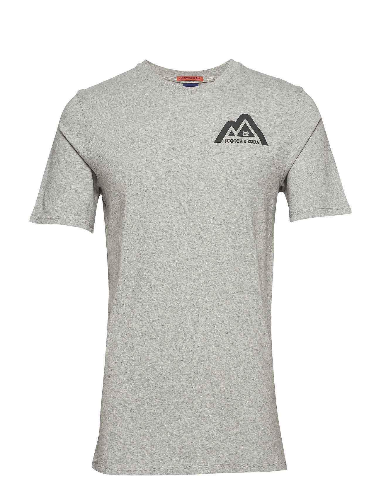 Scotch & Soda Clean Shortsleeve Tee With Small Logo Chest Print 460526843