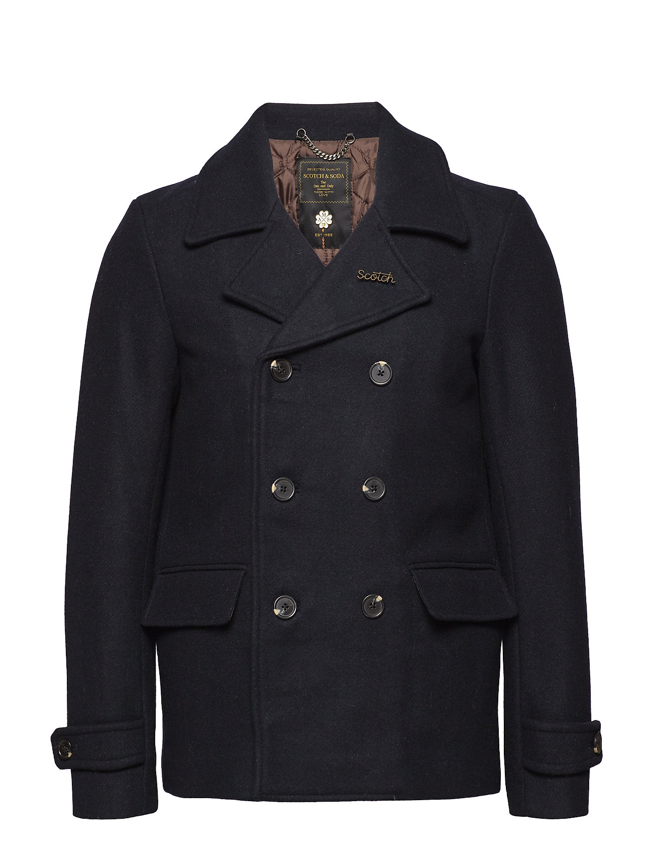 Image of Classic Caban Jacket With Quilted Lining Uldjakke Jakke Blå Scotch & Soda (3066842273)