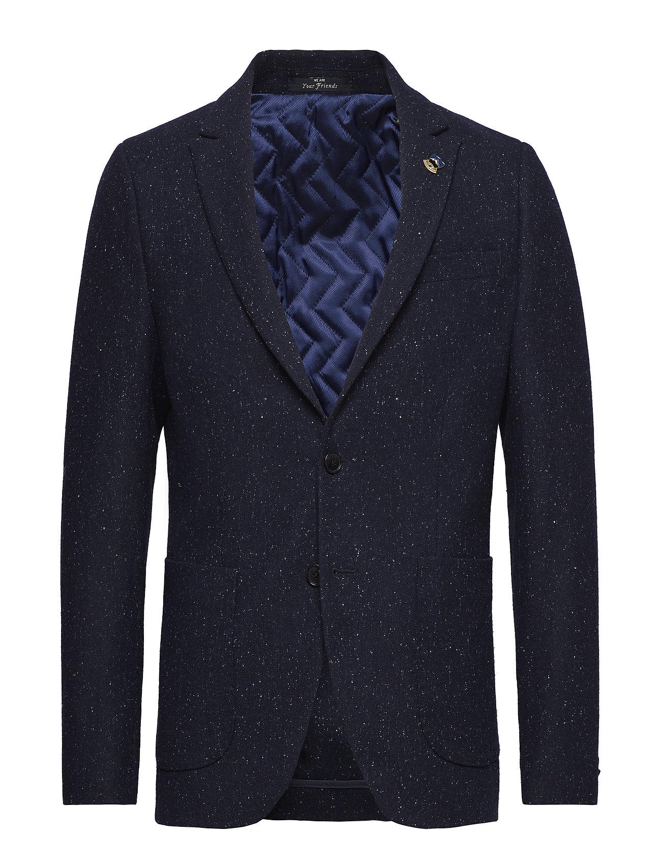 Scotch & Soda Half lined blazer in wool blend quality with neps Kostymer & kavajer