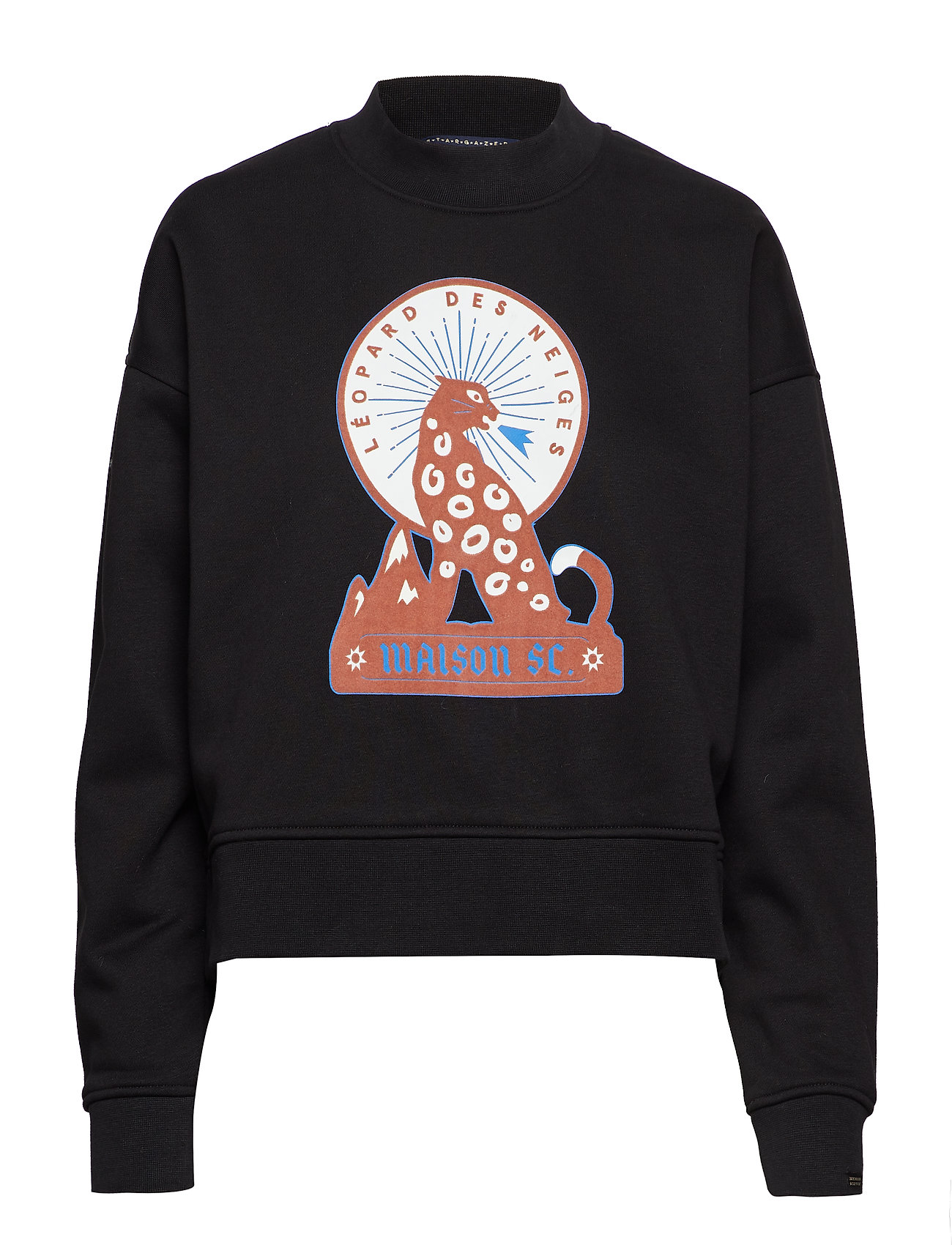 Scotch & Soda High neck boxy fit sweat with various artworks