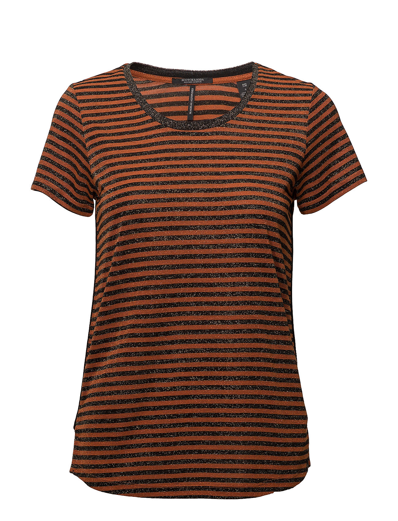 Scotch & Soda Short sleeve crew neck tee with piping details