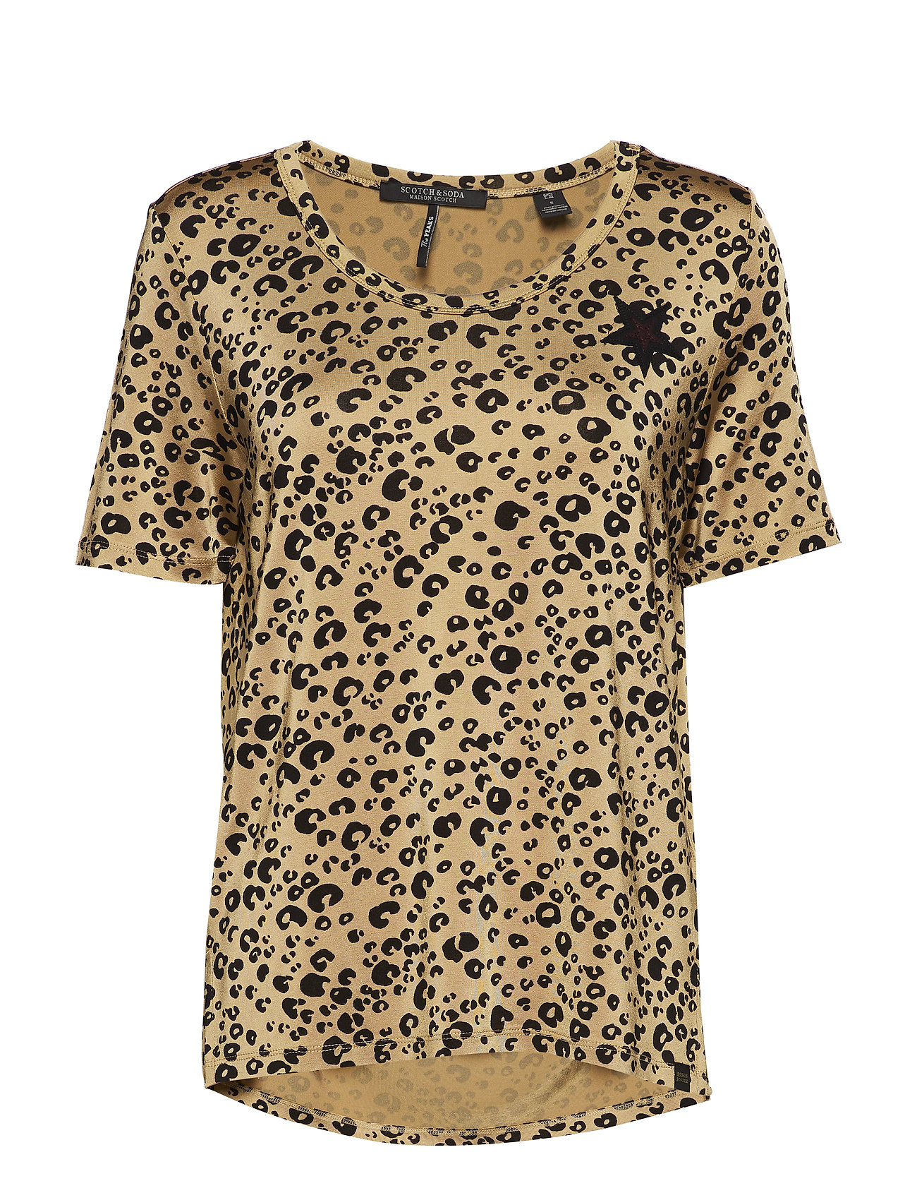 Scotch & Soda Relaxed fit mercerised tee with animal print - COMBO A