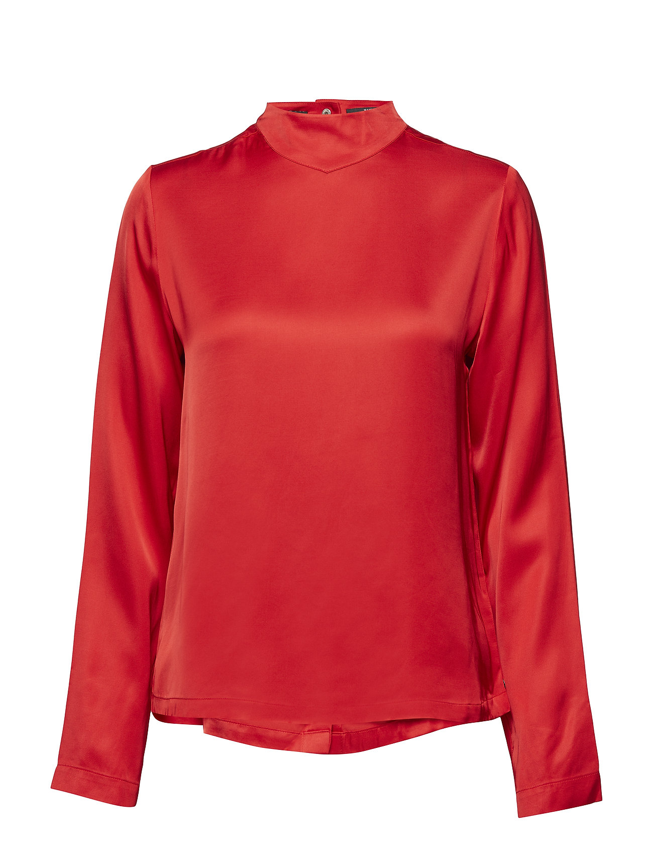 Scotch & Soda High neck top with press buttons at backpanel - MARS RED