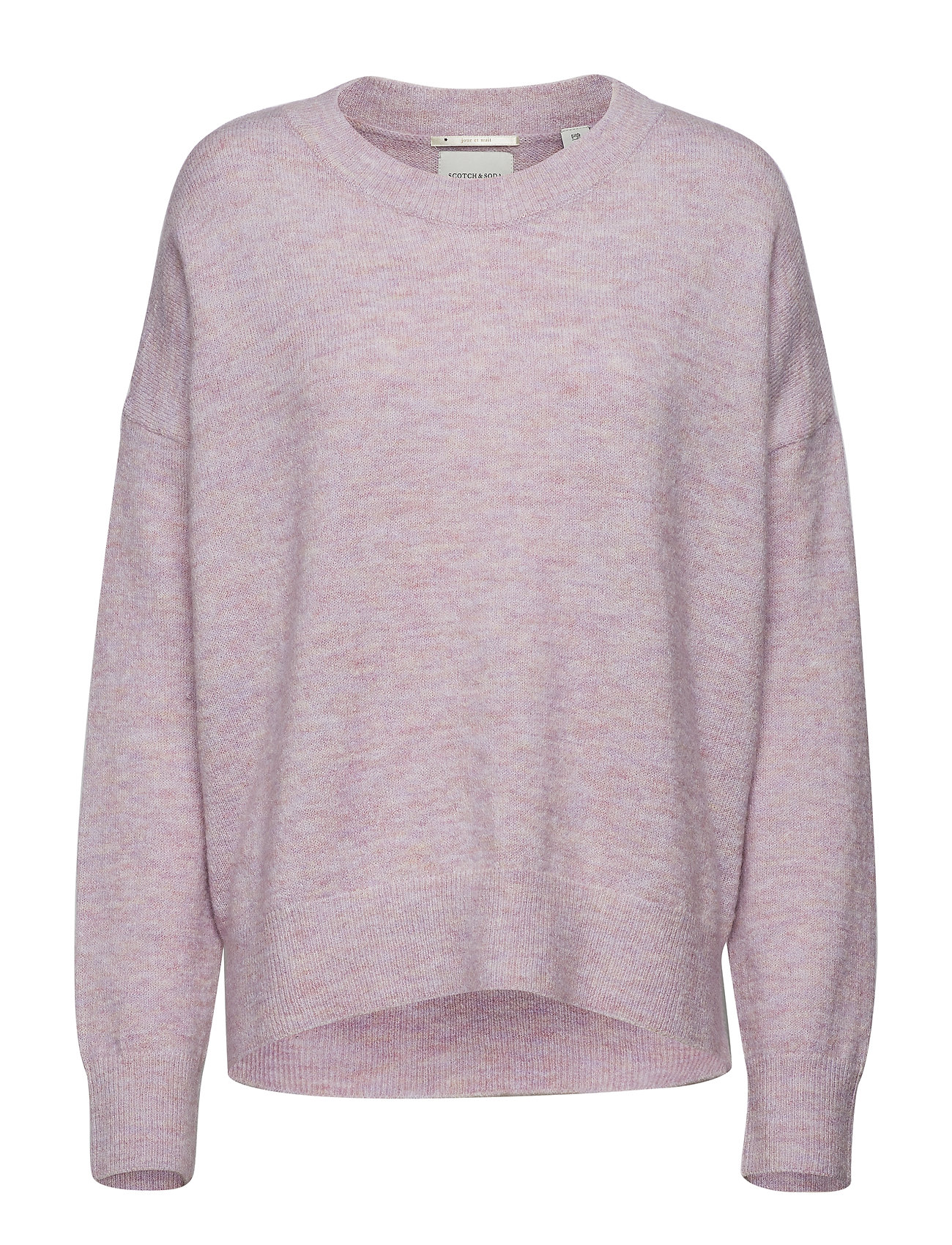 Scotch & Soda Basic crew neck in fluffy yarn - LILAC MELANGE