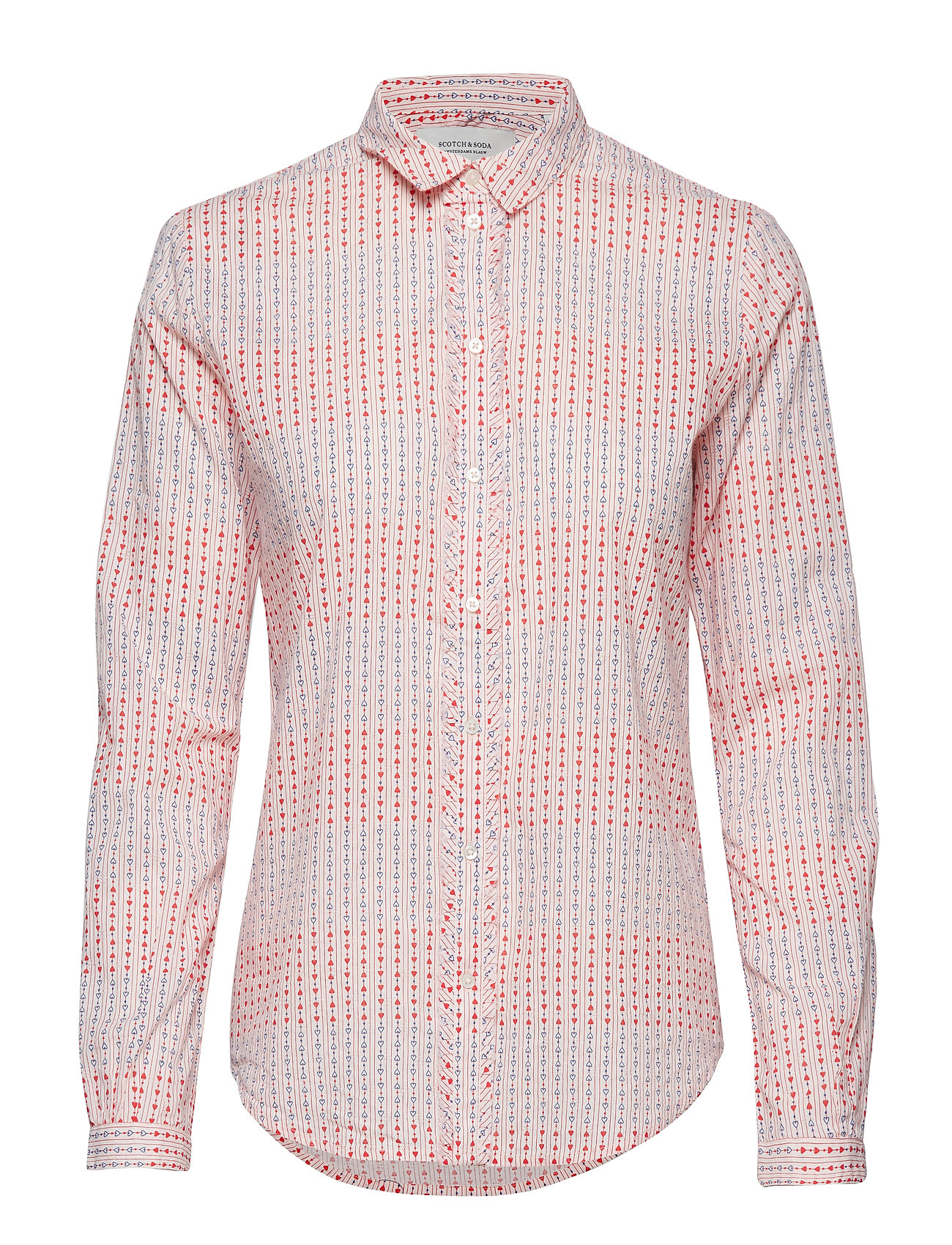 Scotch & Soda Cotton dobby shirt - COMBO C