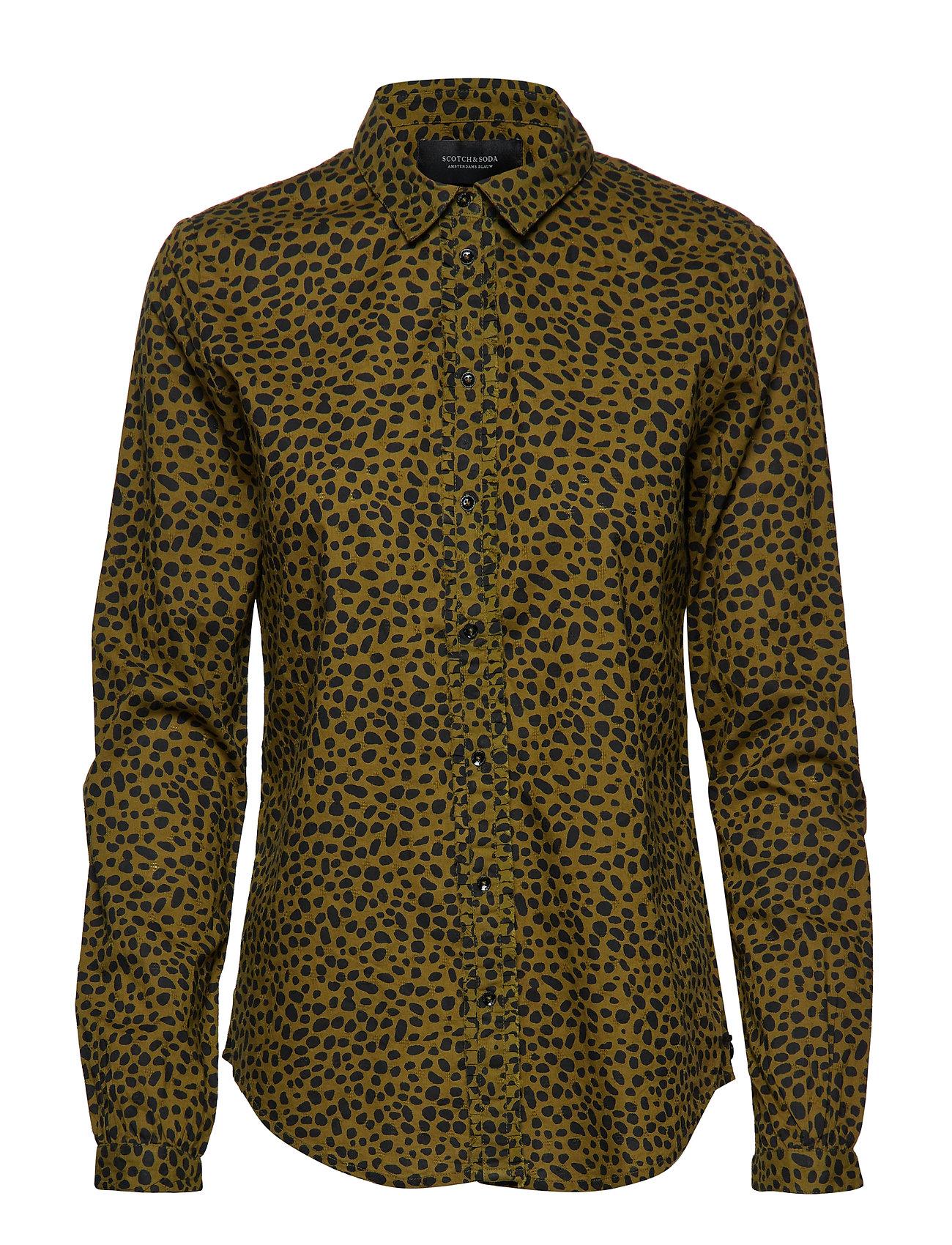 Scotch & Soda Cotton dobby shirt - COMBO D